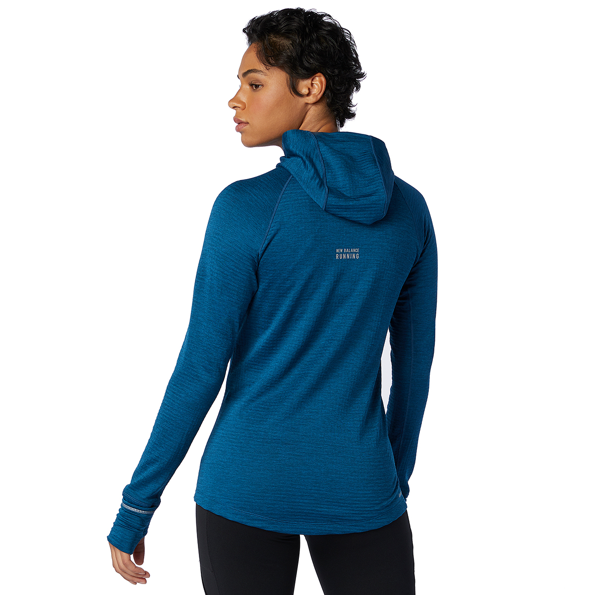 Women's New Balance Heat Grid Hoodie - Color: Rogue Wave - Size: XS, Rogue Wave, large, image 5