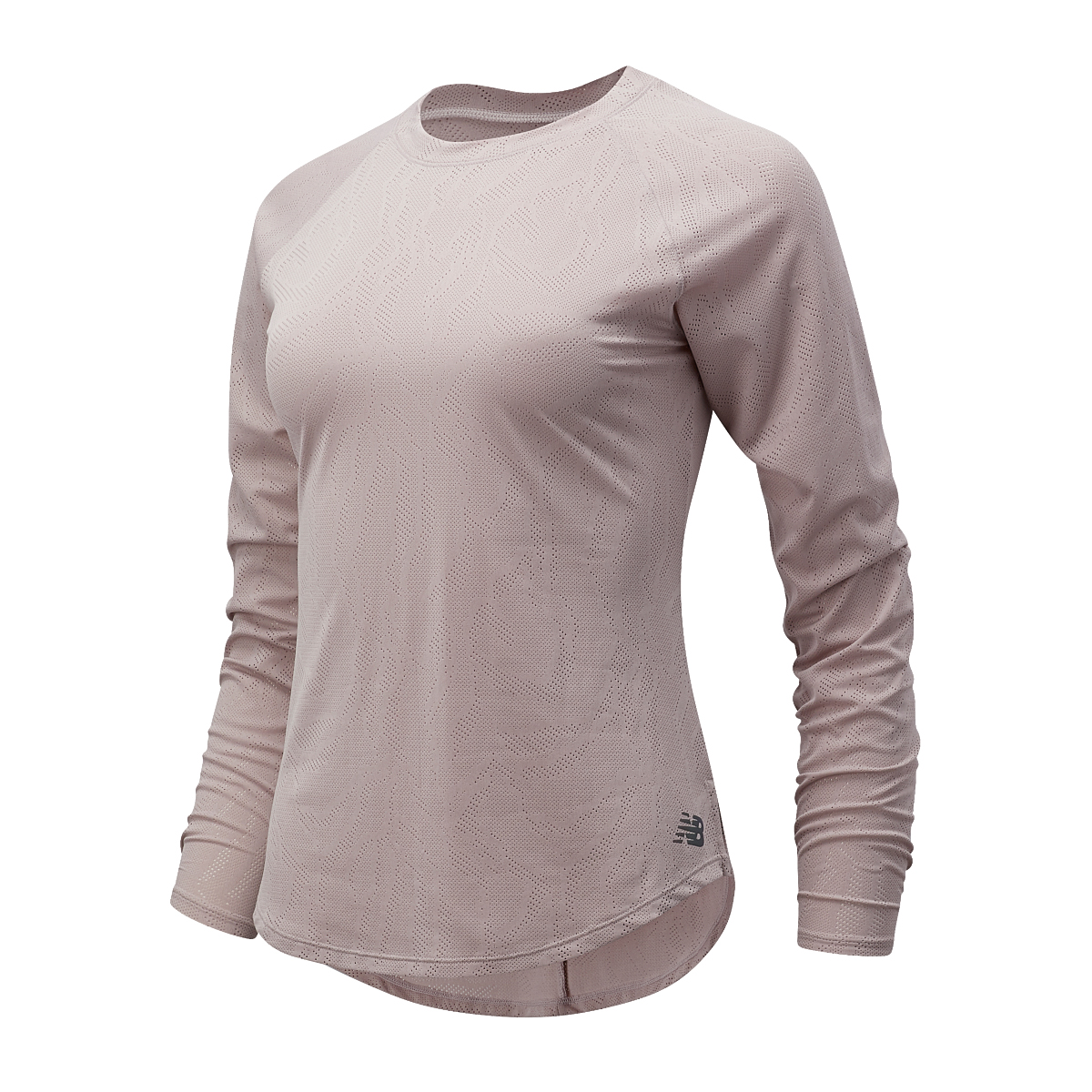 Women's New Balance Q Speed Jacquard Long Sleeve  - Color: Logwood - Size: XS, Logwood, large, image 1