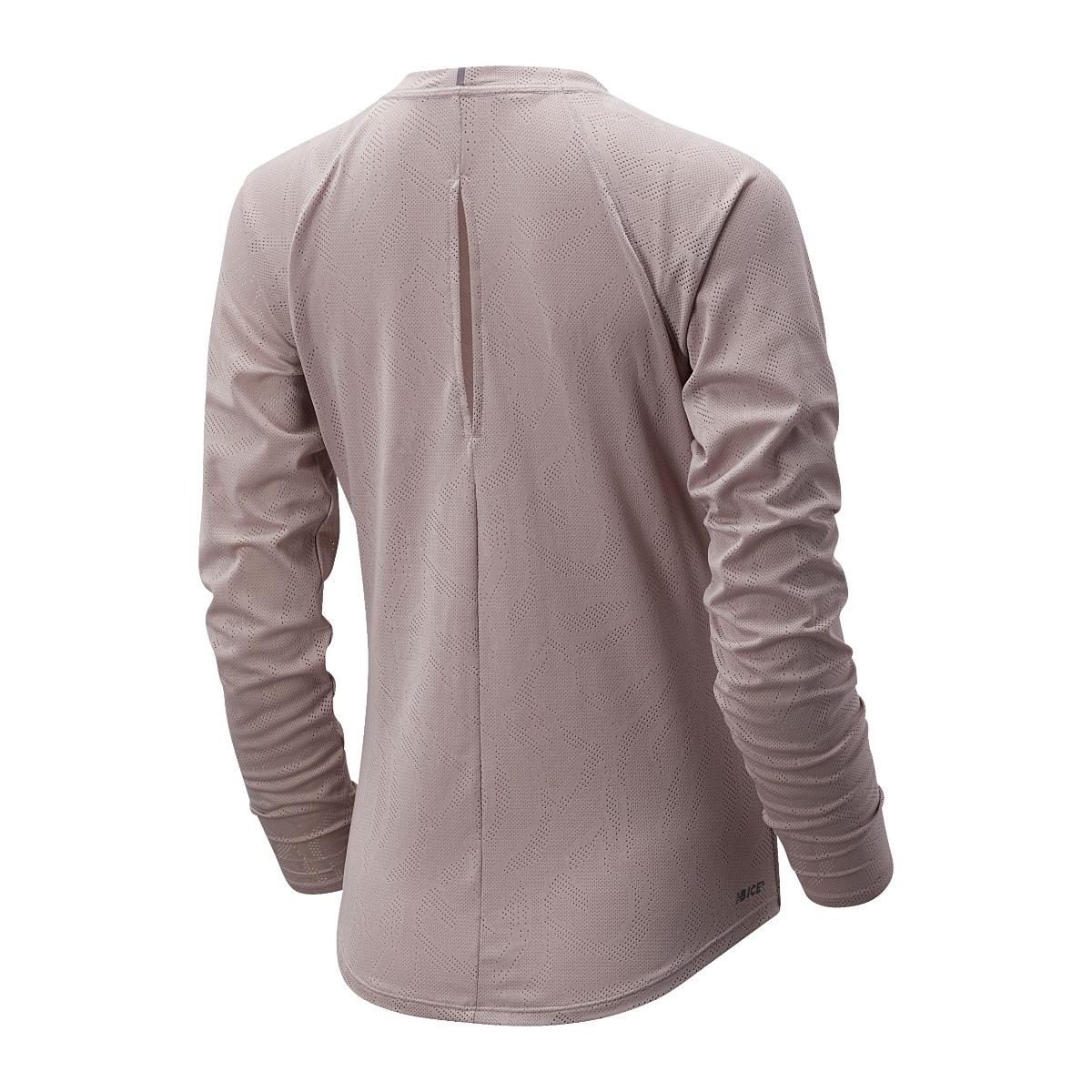 Women's New Balance Q Speed Jacquard Long Sleeve  - Color: Logwood - Size: XS, Logwood, large, image 2