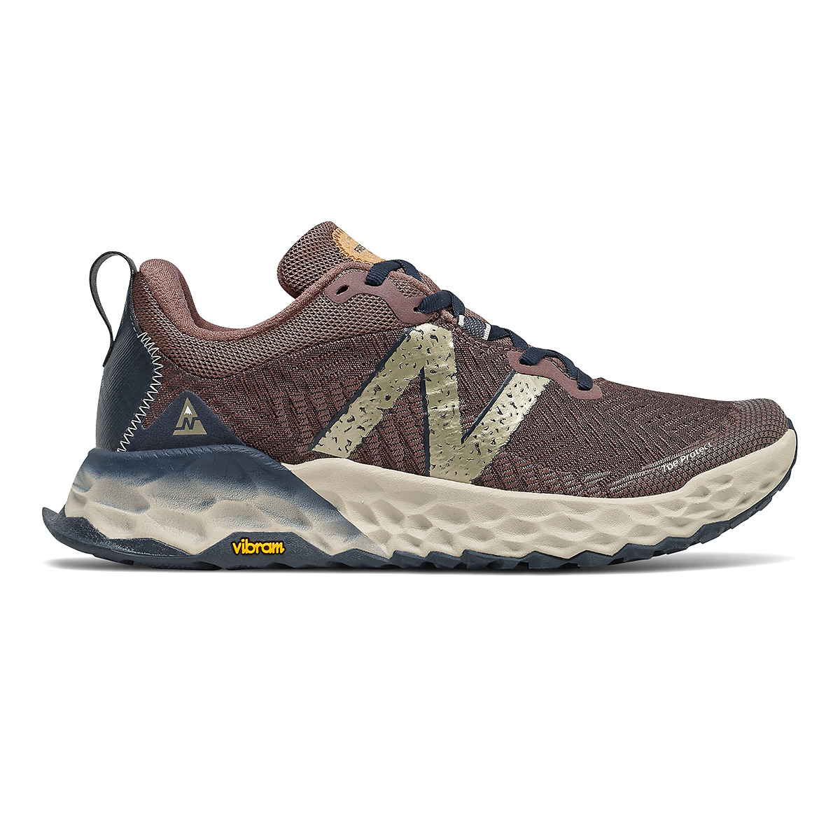 Women's New Balance Hierro V6 Trail Running Shoe - Color: Black Fig - Size: 5 - Width: Regular, Black Fig, large, image 1