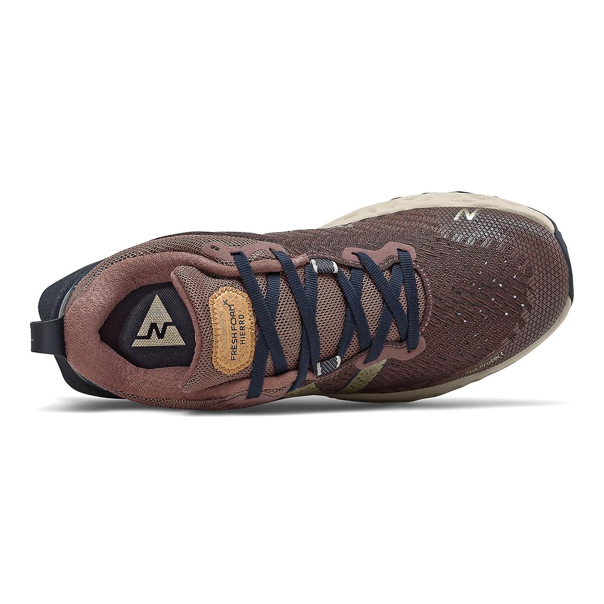 Women's New Balance Hierro V6 Trail Running Shoe - Color: Black Fig - Size: 5 - Width: Regular, Black Fig, large, image 3