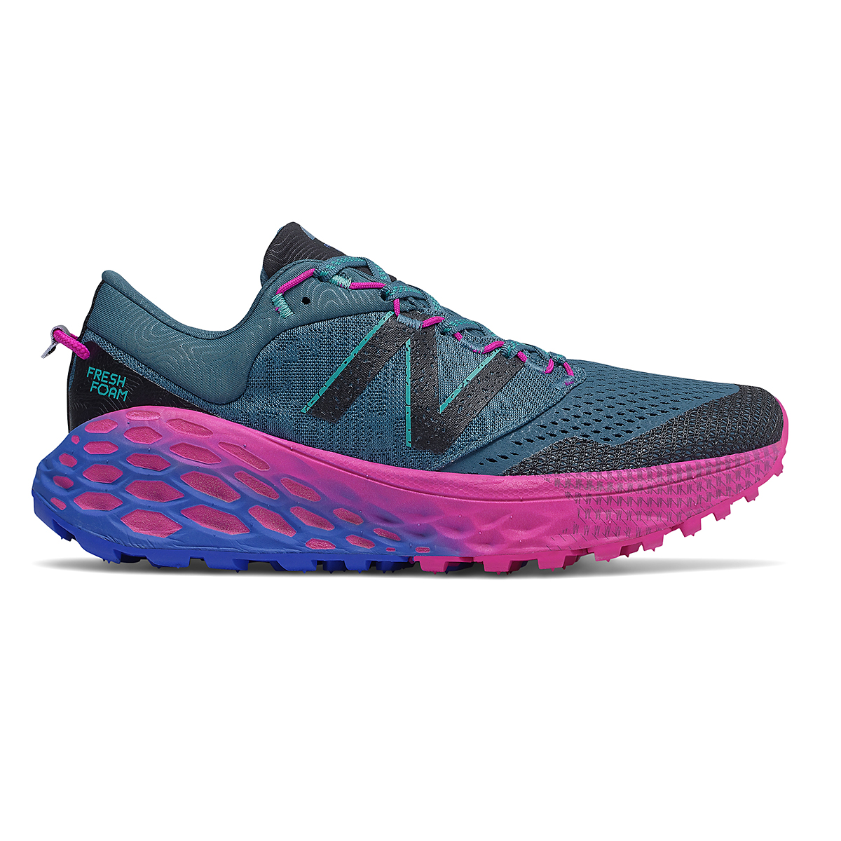 Women's New Balance Fresh Foam More Trail V1 Running Shoe - Color: Jet Stream - Size: 5.5 - Width: Extra Wide, Jet Stream, large, image 1