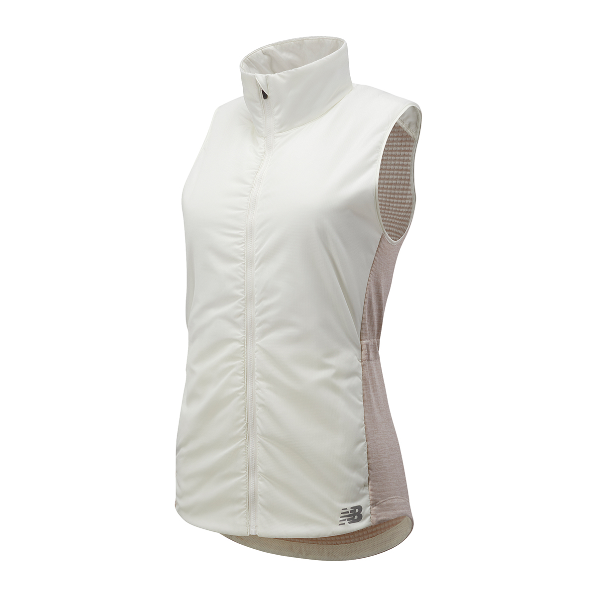Women's New Balance Heat Grid Vest - Color: Sea Salt Heather - Size: L, Sea Salt Heather, large, image 1