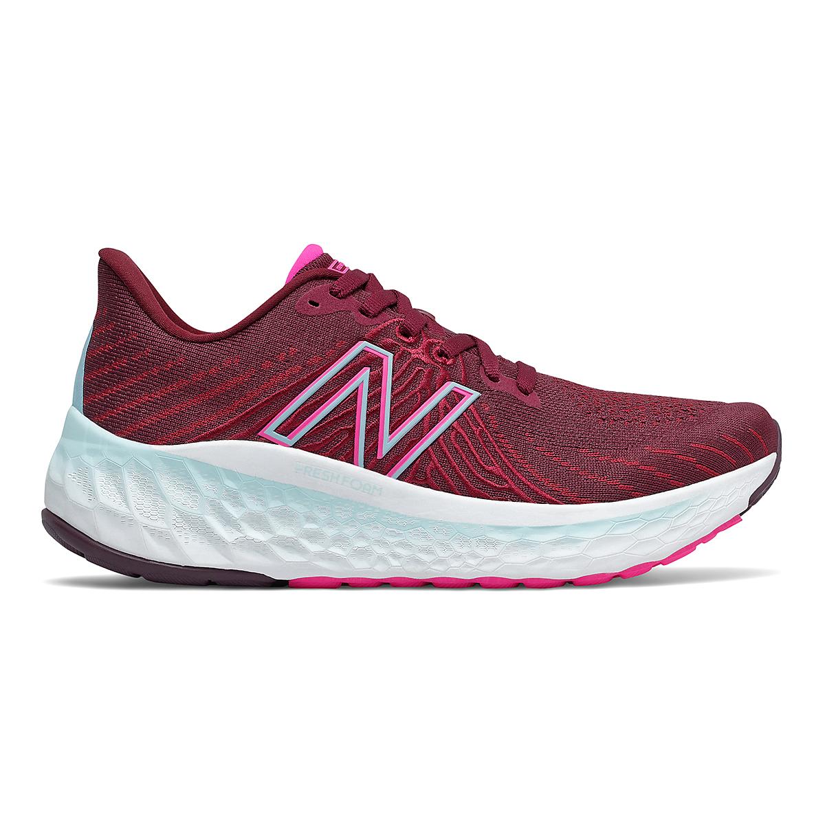Women's New Balance Fresh Foam Vongo V5 Running Shoe - Color: Garnet/Pink Glo - Size: 5 - Width: Regular, Garnet/Pink Glo, large, image 1
