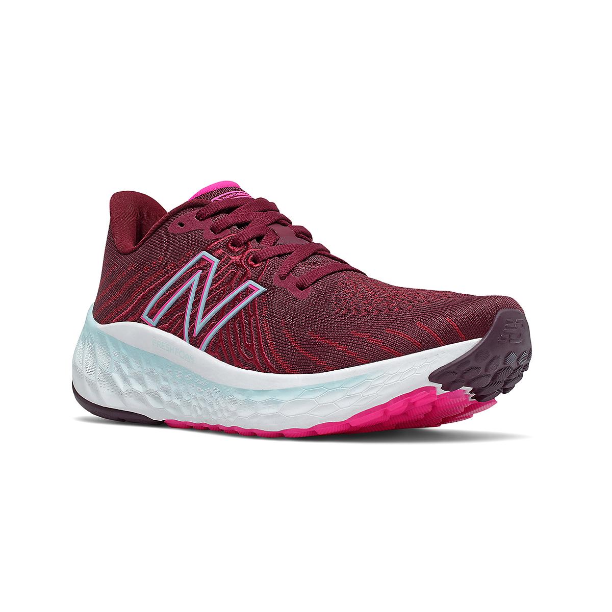Women's New Balance Fresh Foam Vongo V5 Running Shoe - Color: Garnet/Pink Glo - Size: 5 - Width: Regular, Garnet/Pink Glo, large, image 3