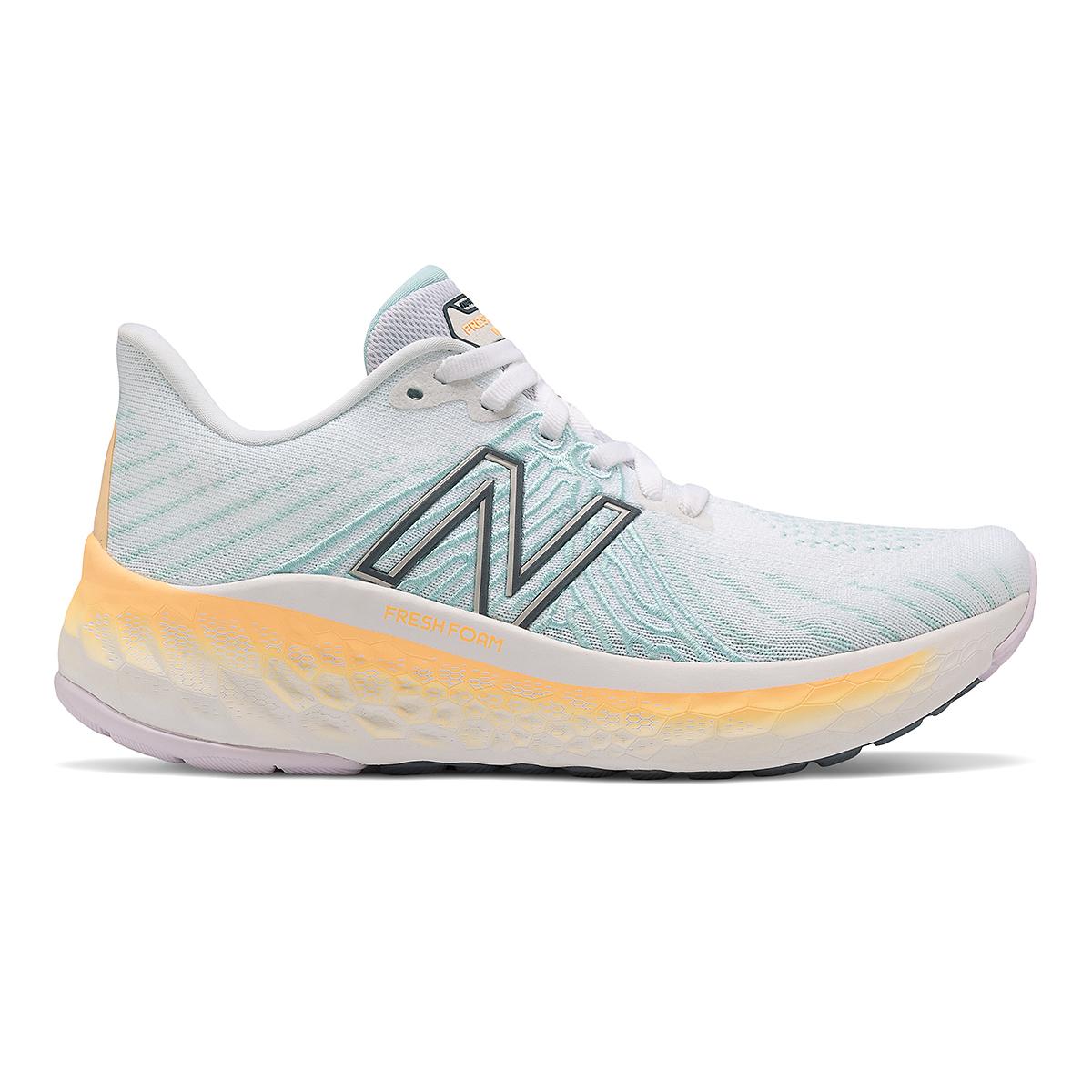Women's New Balance Fresh Foam Vongo V5 Running Shoe - Color: White/Light Mango - Size: 5 - Width: Regular, White/Light Mango, large, image 1