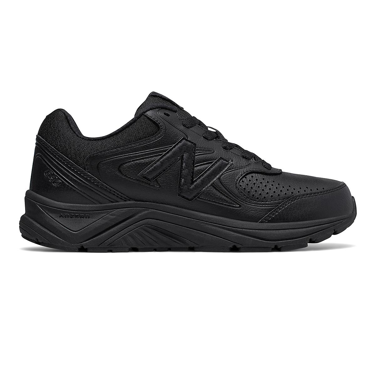Women's New Balance 840v2 Suede Walking Shoe - Color: Black/Black - Size: 5 - Width: Extra Wide, Black/Black, large, image 1