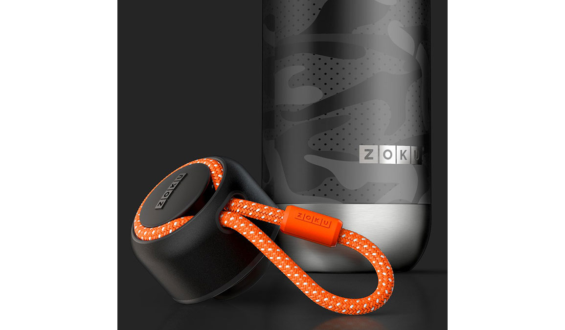 Zoku 18oz Stainless Steel Bottle - Color: Black Camo Size: NS, Camo, large, image 3