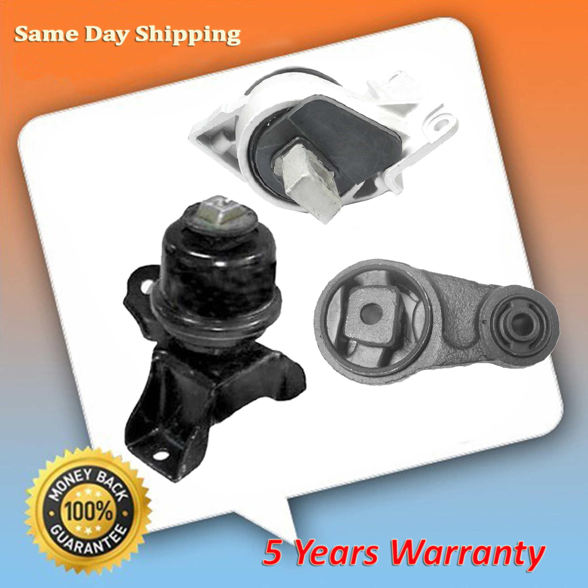 Engine /& Trans Mount 3PCS 2006-2009 for Ford Fusion// for Mercury Milan 2.3L 3.0L