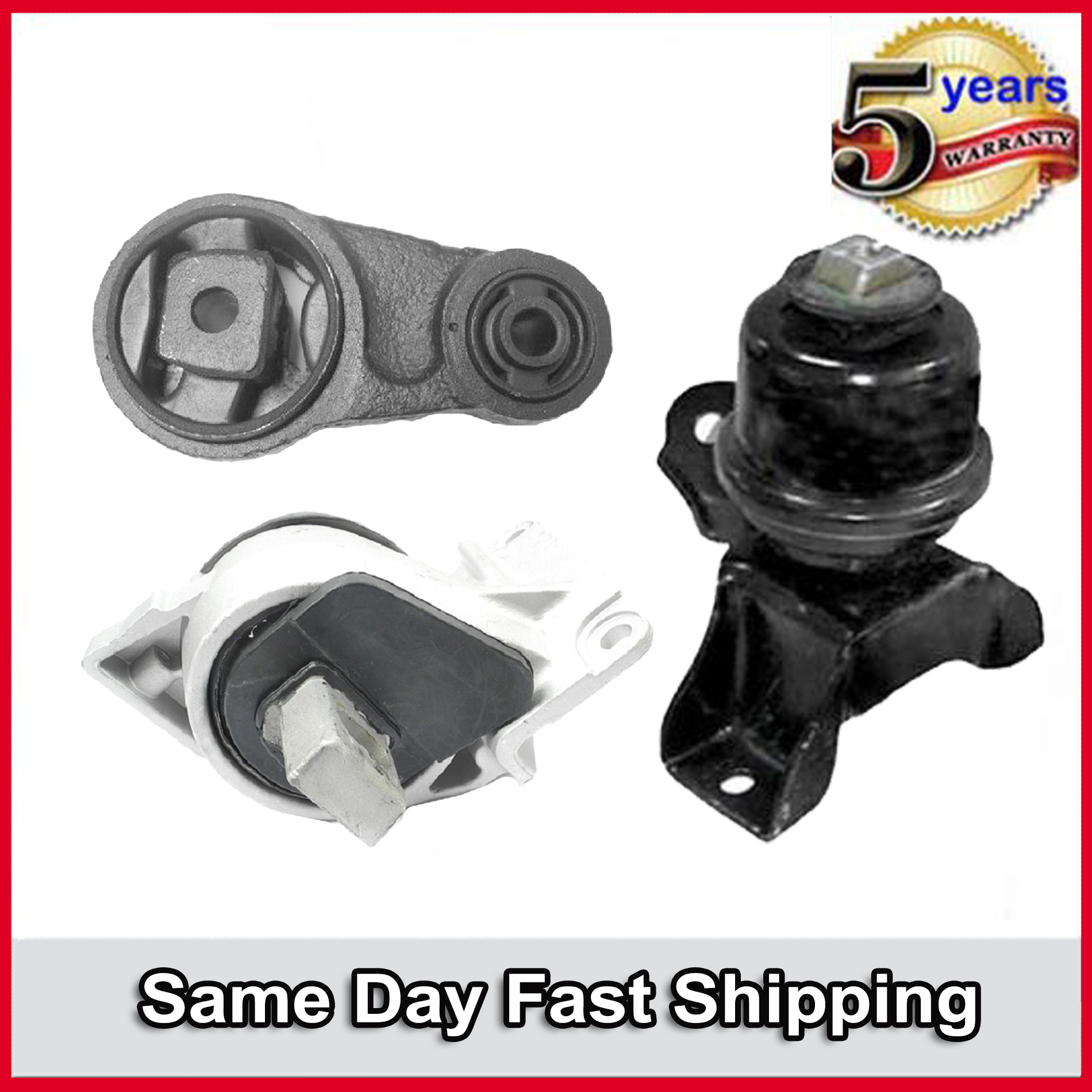 3 PCS FRONT MOTOR /& TRANS MOUNT FIT 2006-2009 Ford Fusion 3.0L 2WD
