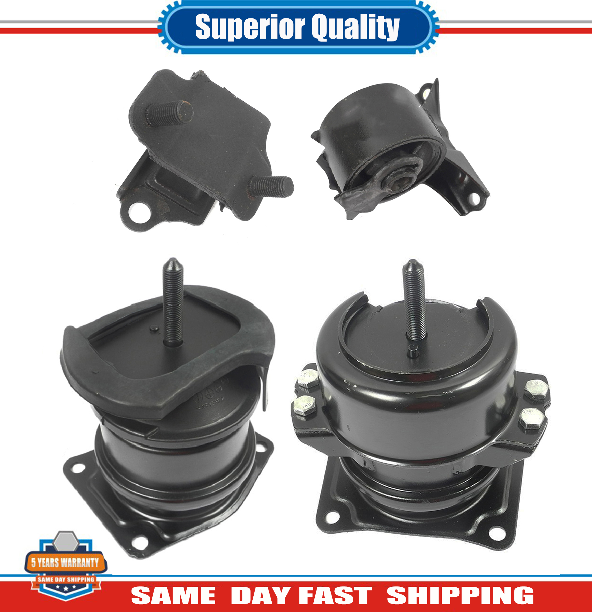 FWD Engine Motor & Transmission Mount Auto Set 4PCS For