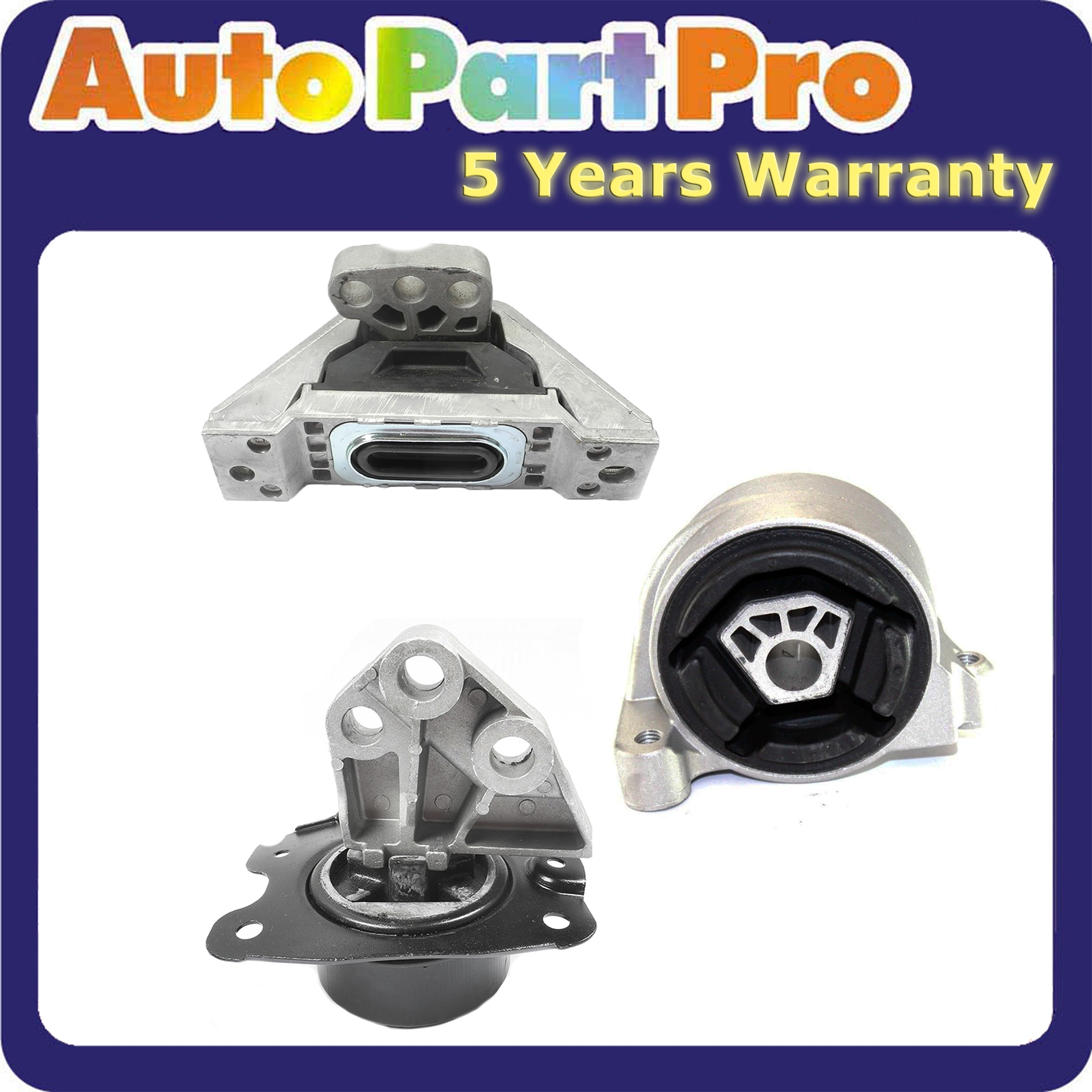05//09 Chevrolet Equinox Pontiac Torrent  3.4 L Engine Mounts Set For