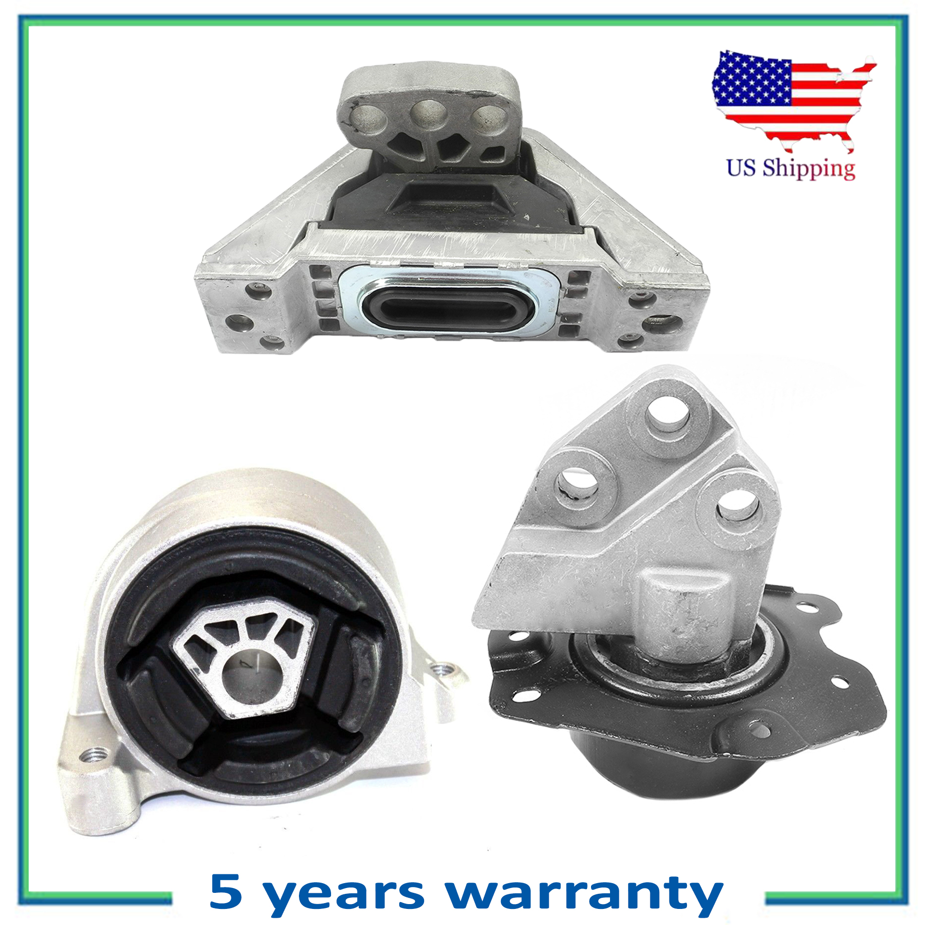 Engine Motor /& Trans Mount 3PCS Auto For 2005-2006 Chevrolet Equinox LT 3.4L FWD