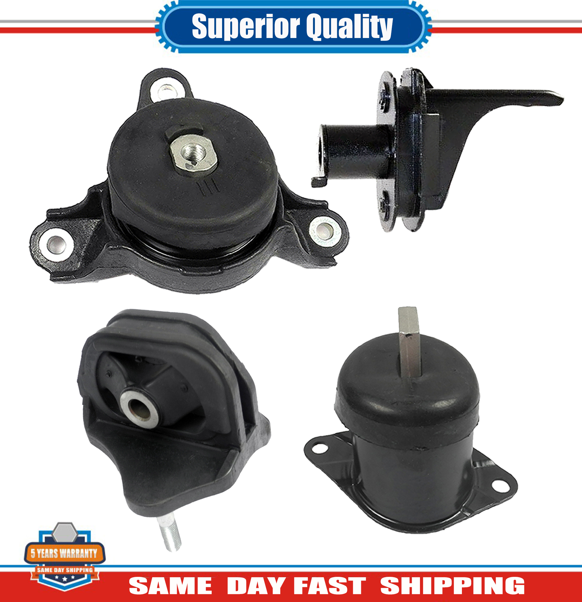 Engine Motor & Trans Mount 4PCS For Acura TSX 3.5L 4591