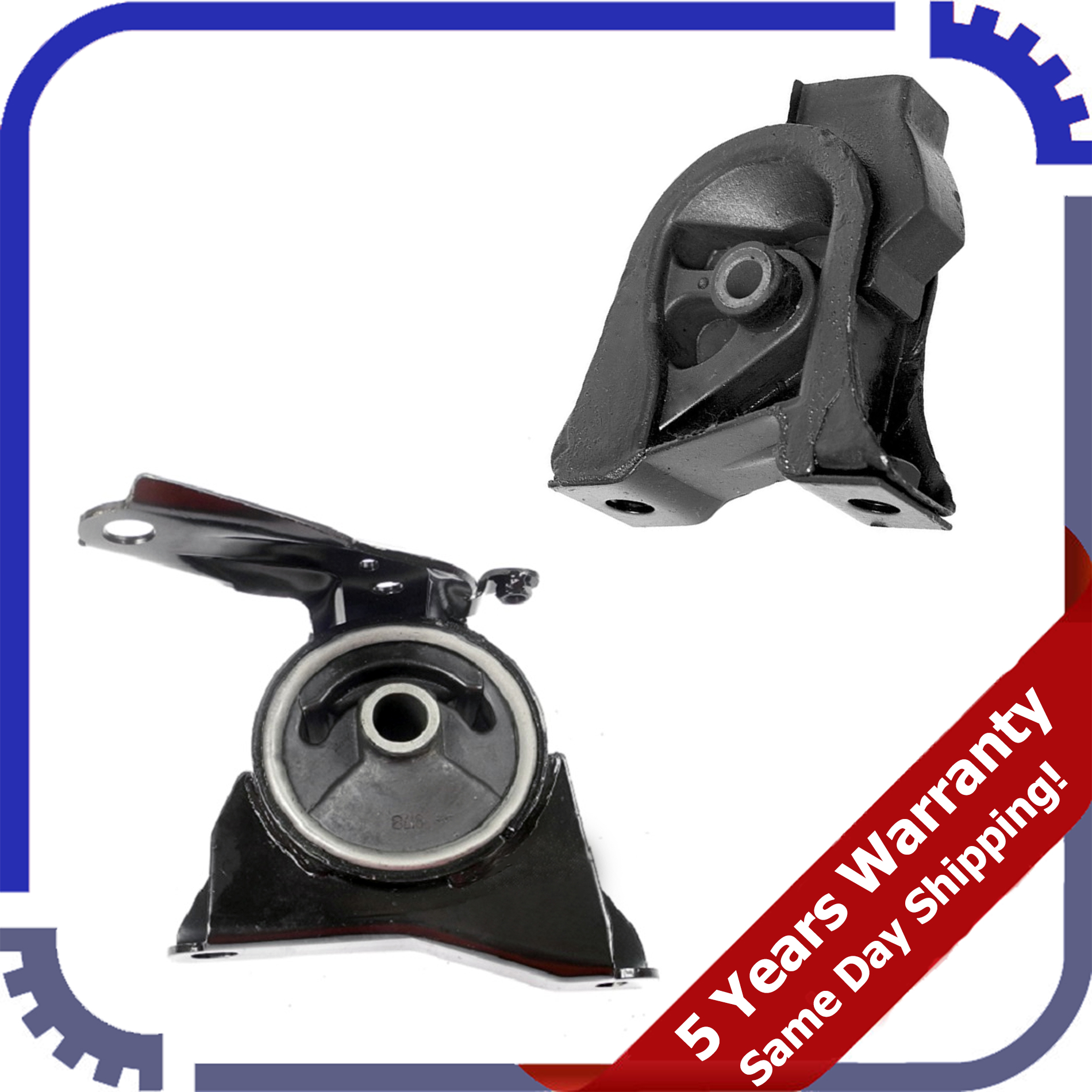 For 93-97 Toyota Corolla Base 1.6L FWD Engine Motor /& Transmission Mount Manual