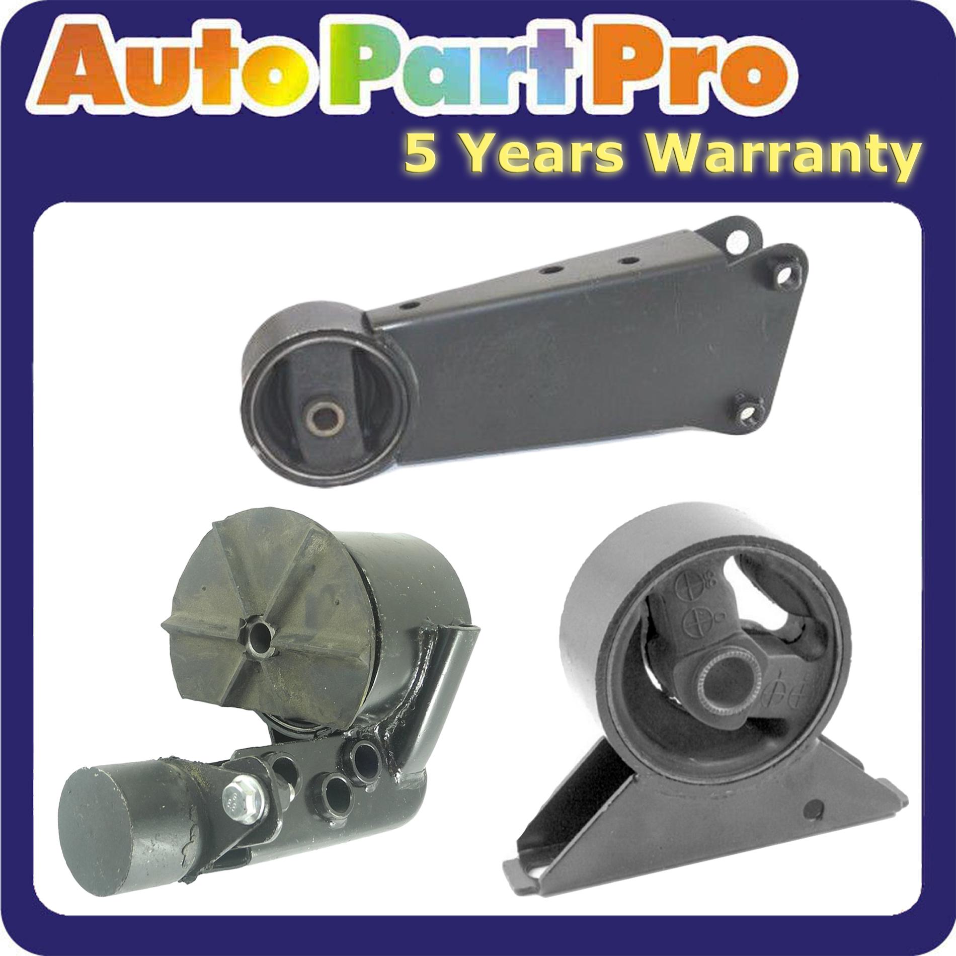 Front Left /& Rear Engine Motor Mount Set 3PCS 2000-2003 for Hyundai Accent 1.5L