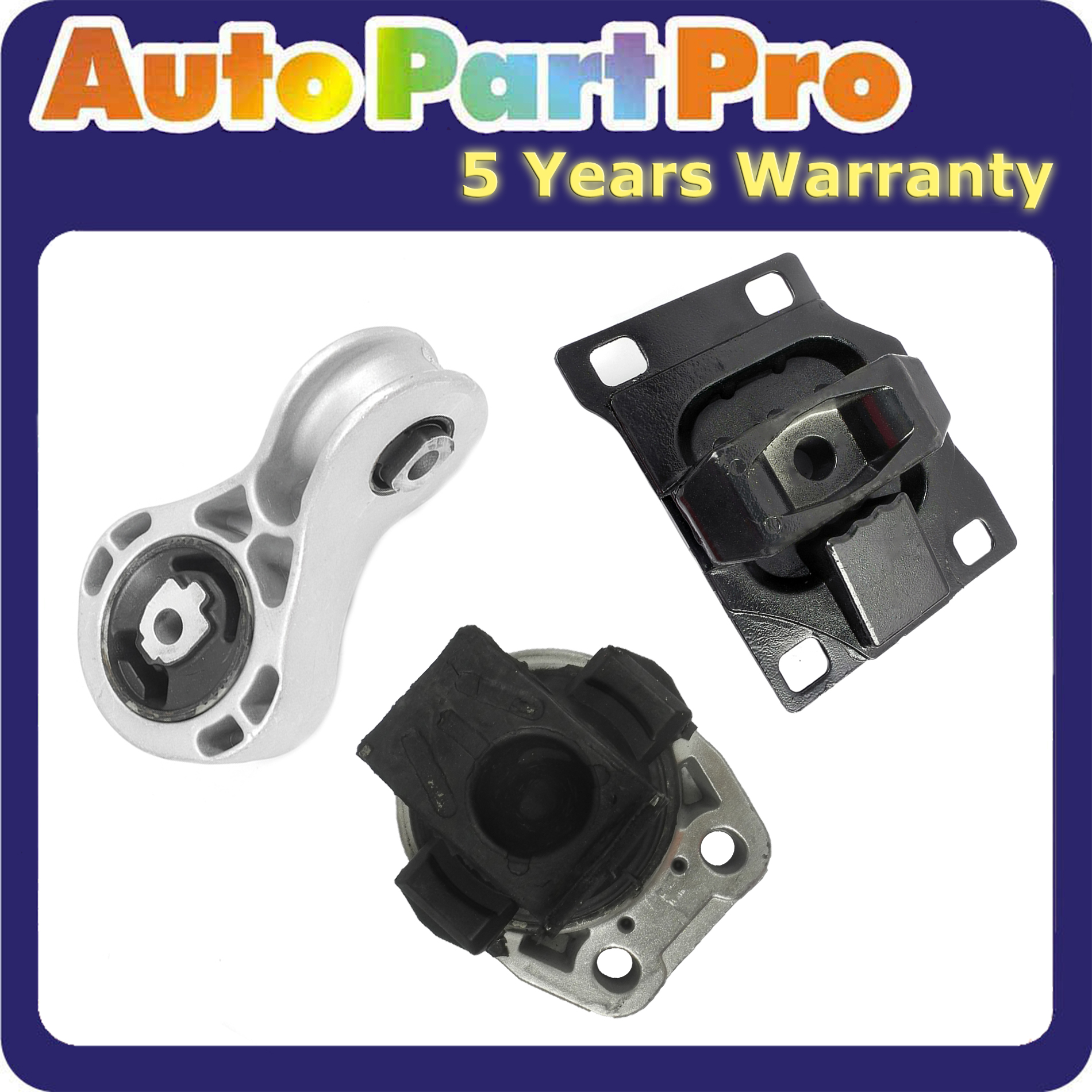 Engine Motor /& Trans Mount 3PCS For 2008-2011 Ford Focus 2.0L 5322 5495 2986