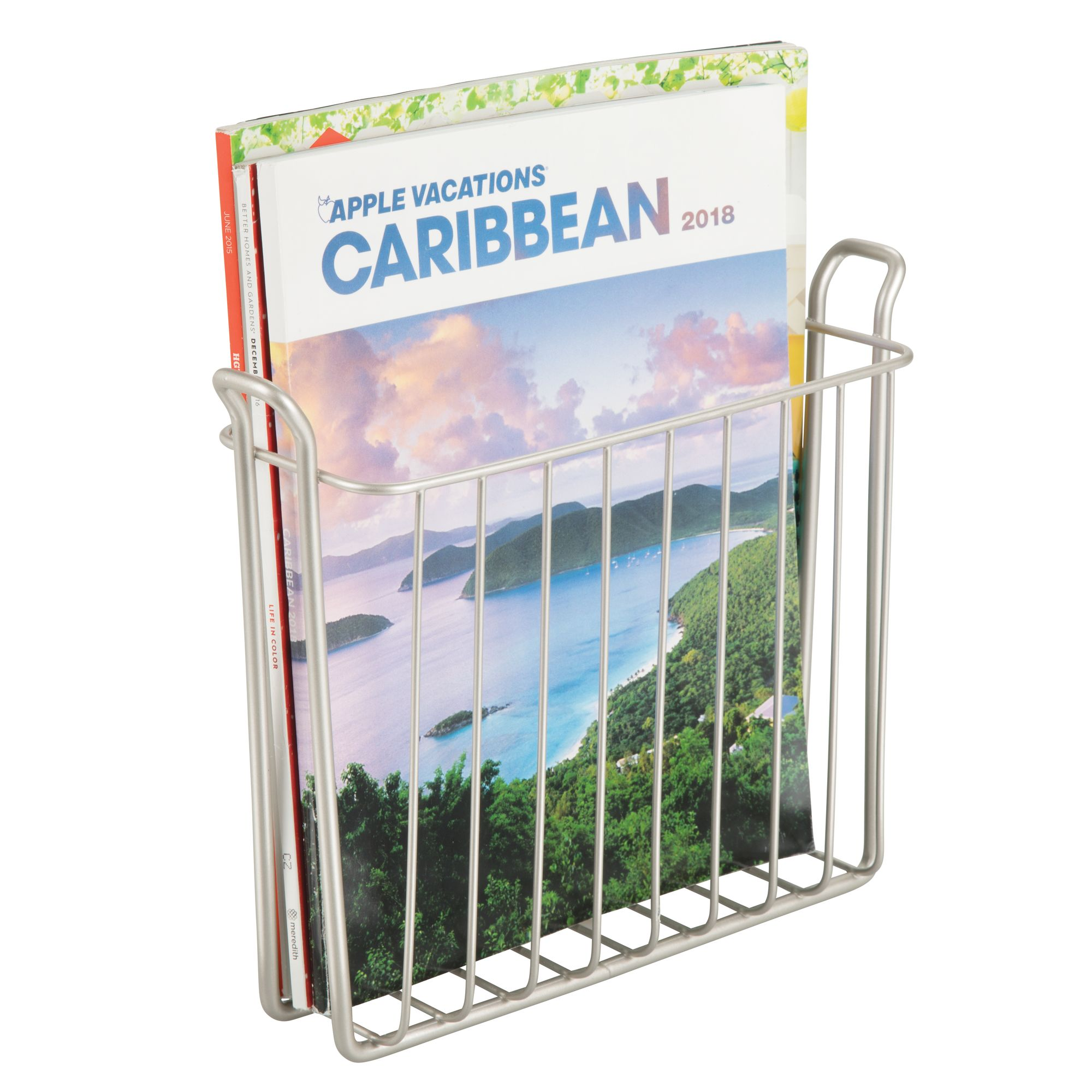 mDesign-Metal-Wall-Mount-Magazine-Book-Holder-Compact-Rack thumbnail 47