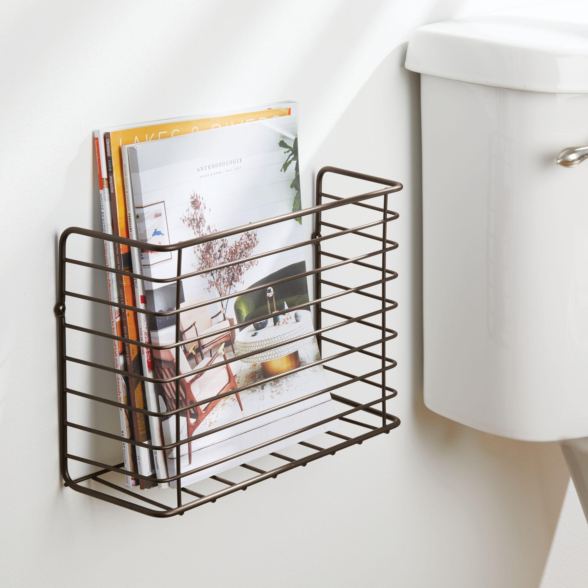 mDesign-Metal-Wall-Mount-Magazine-Holder-Storage-Organizer-Rack thumbnail 16