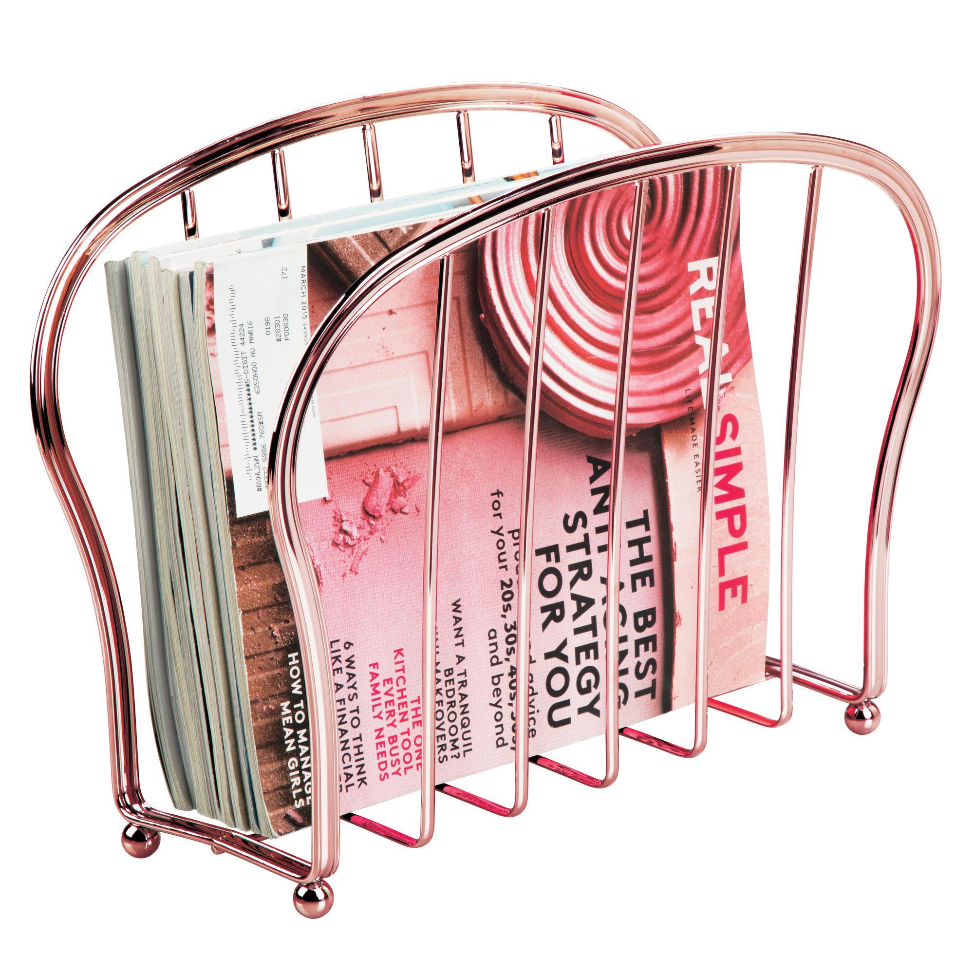 mDesign-Metal-Standing-Rack-Magazine-Holder-for-Bathroom thumbnail 52