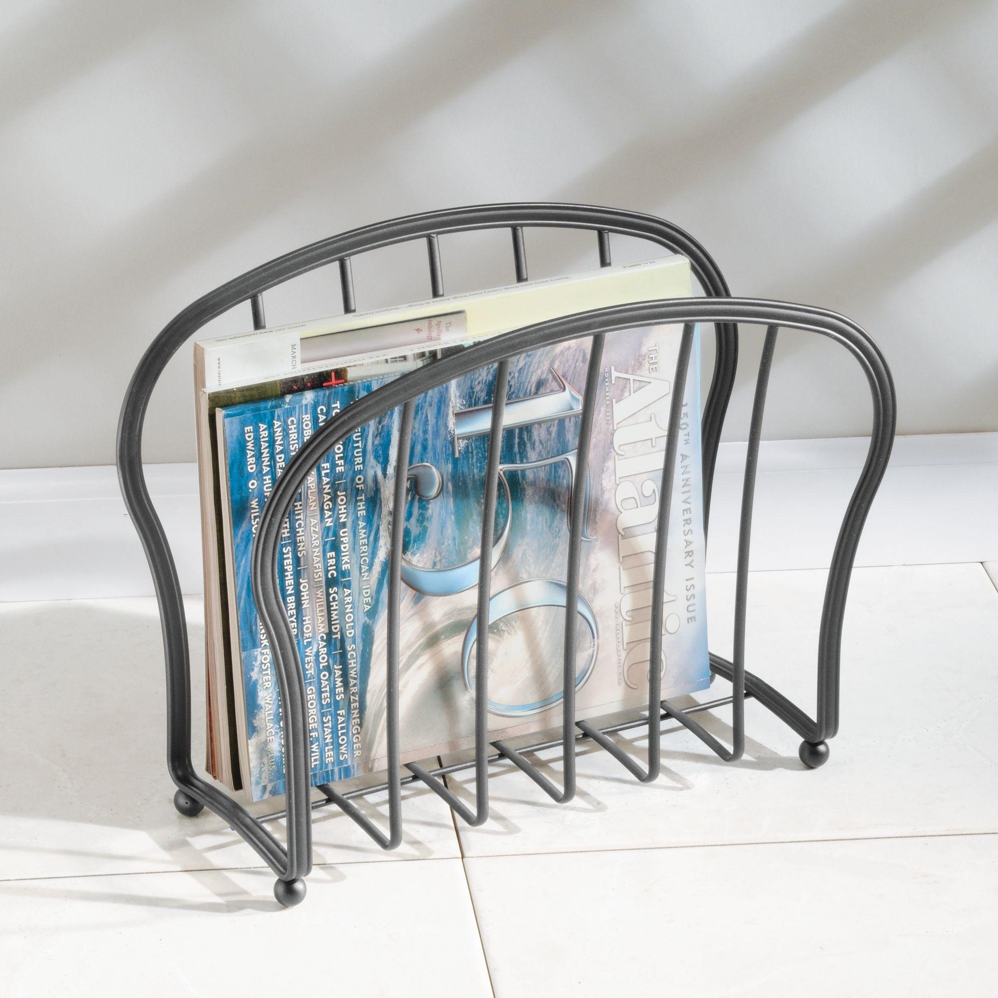 mDesign-Metal-Standing-Rack-Magazine-Holder-for-Bathroom thumbnail 41