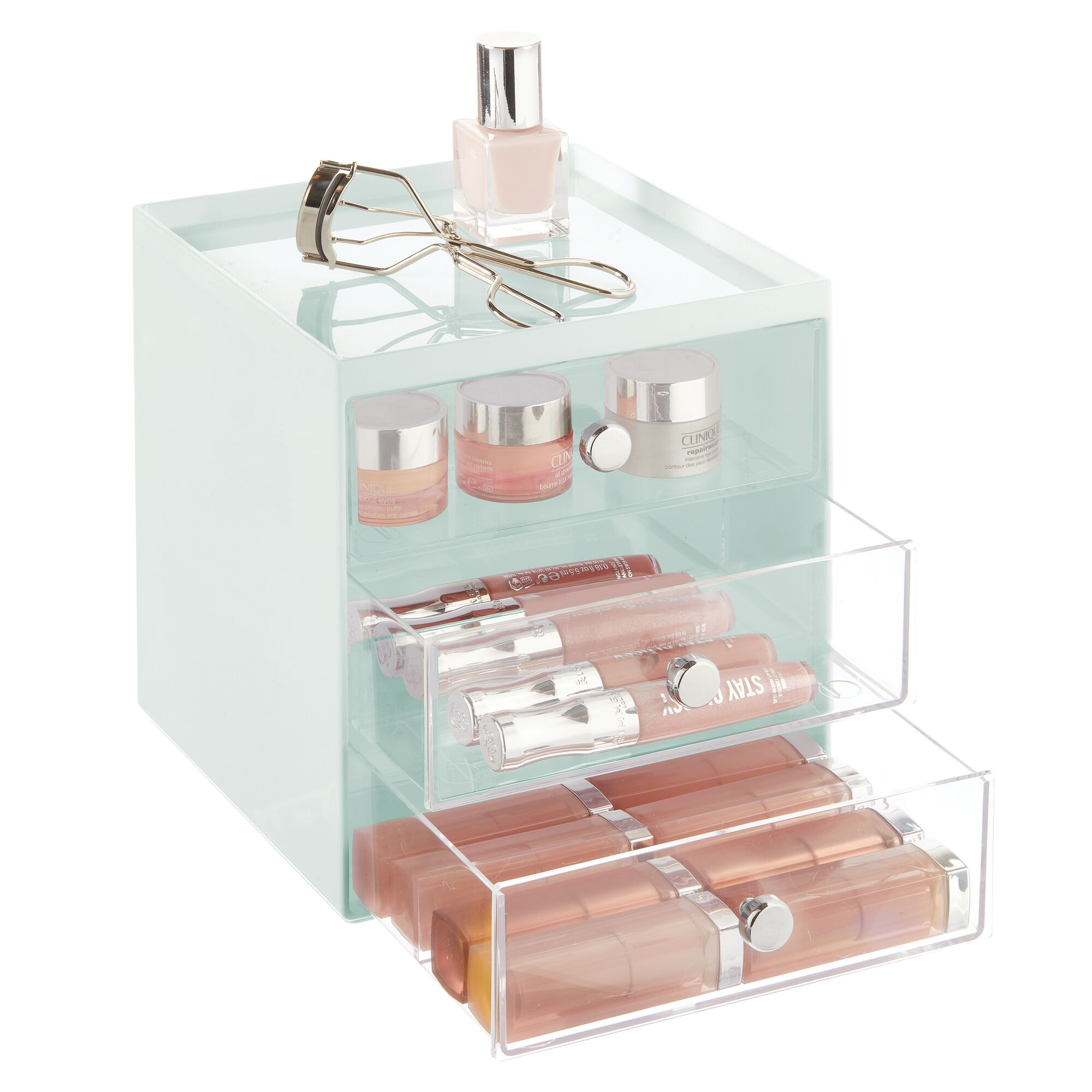 mDesign-Plastic-Makeup-Storage-Organizer-Cube-3-Drawers thumbnail 65