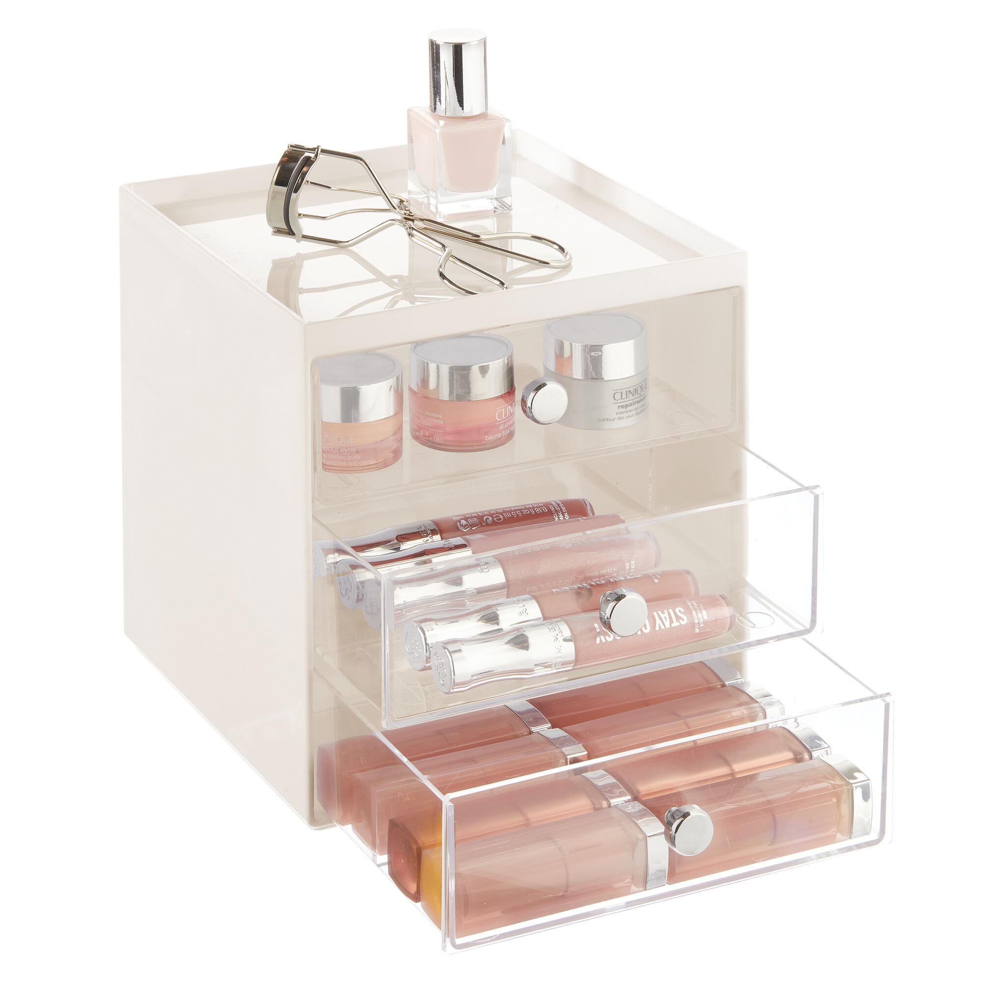 mDesign-Plastic-Makeup-Storage-Organizer-Cube-3-Drawers thumbnail 29