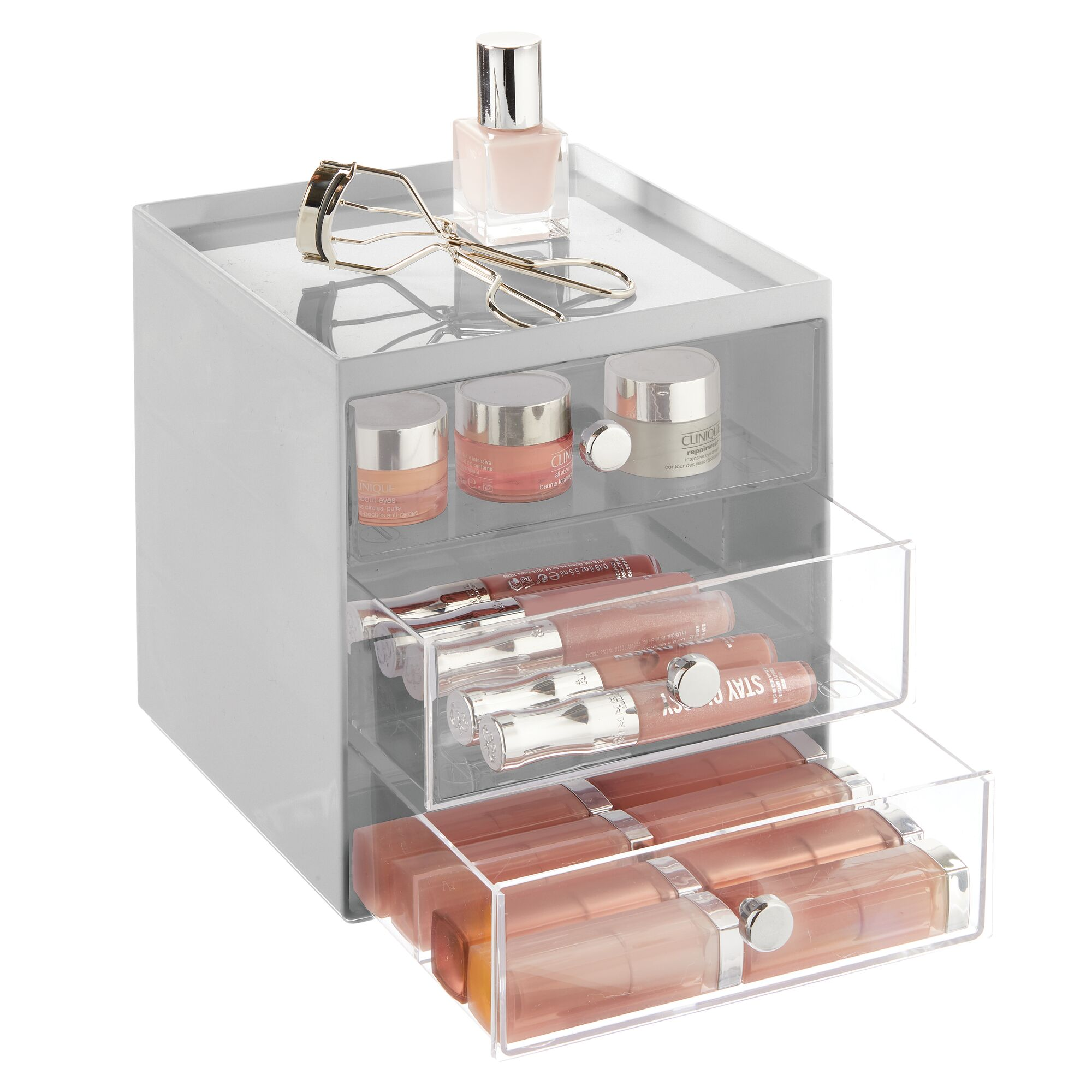mDesign-Plastic-Makeup-Storage-Organizer-Cube-3-Drawers thumbnail 41