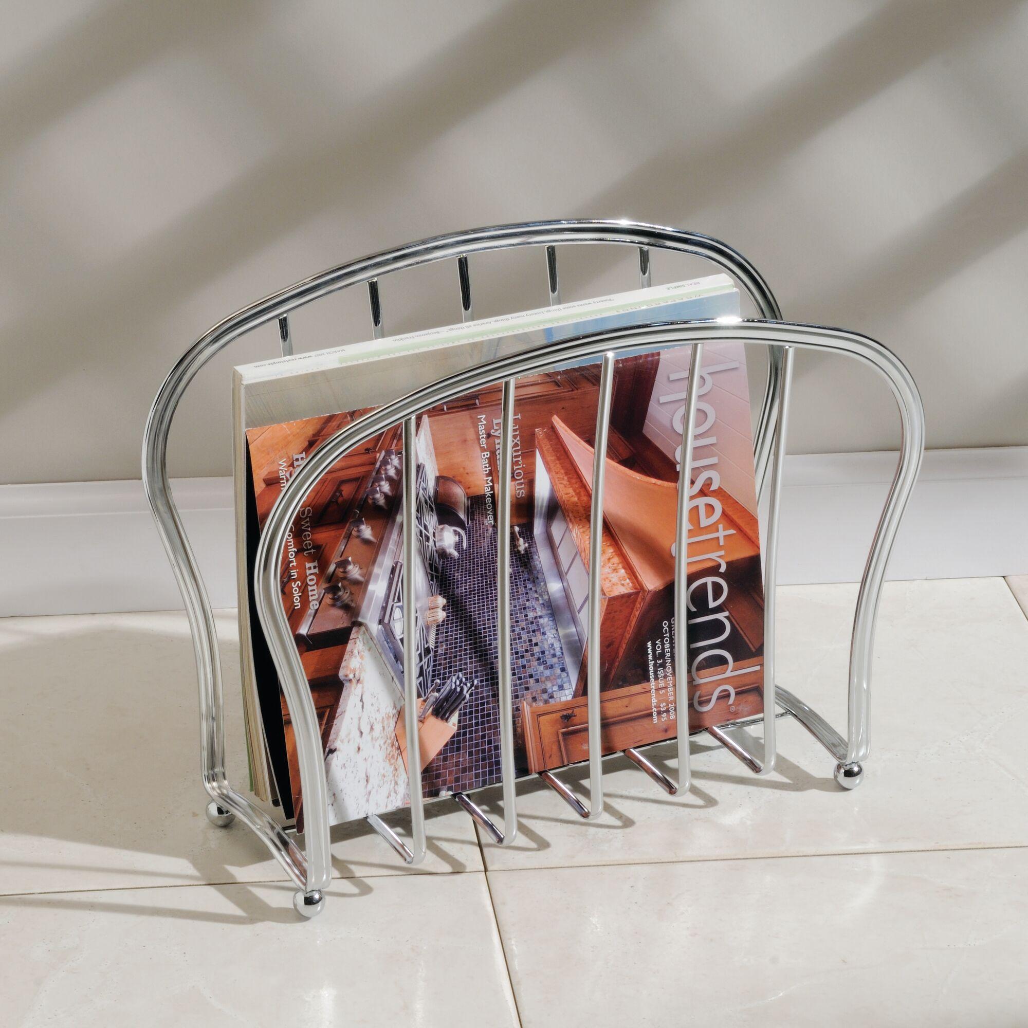 mDesign-Metal-Standing-Rack-Magazine-Holder-for-Bathroom thumbnail 31