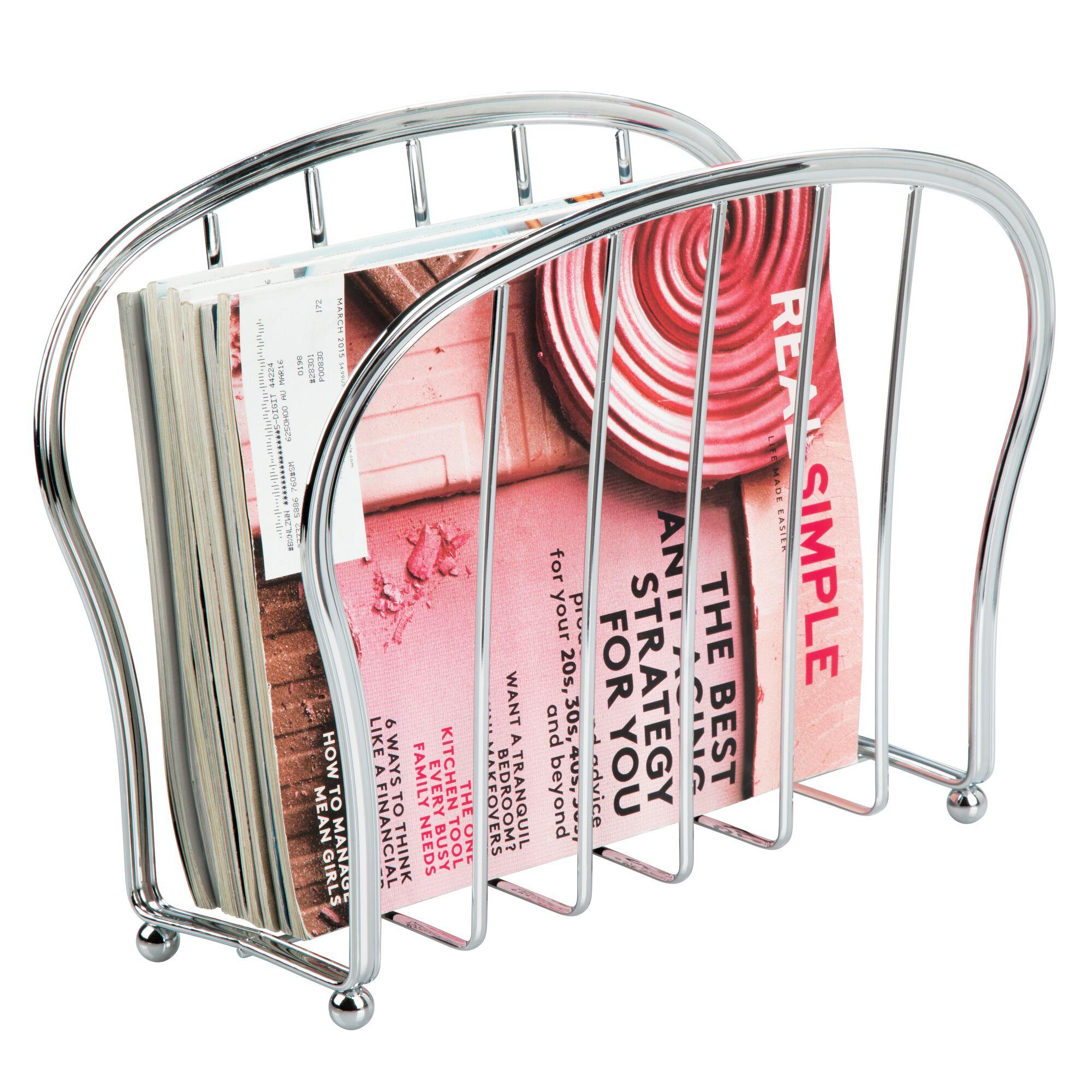 mDesign-Metal-Standing-Rack-Magazine-Holder-for-Bathroom thumbnail 30