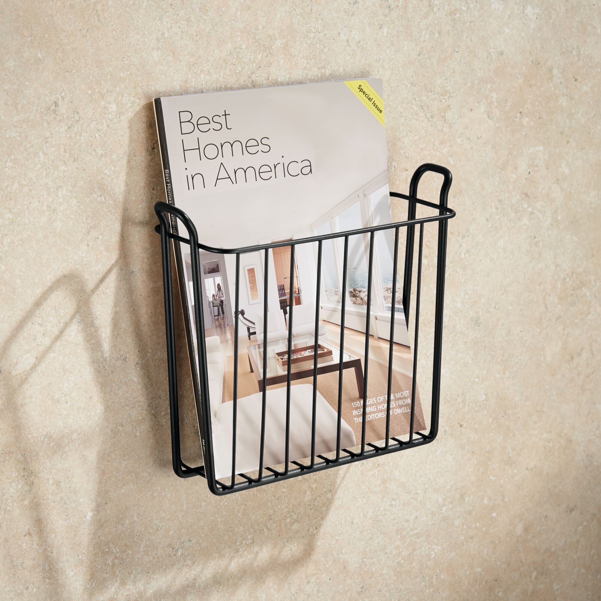 mDesign-Metal-Wall-Mount-Magazine-Book-Holder-Compact-Rack thumbnail 27