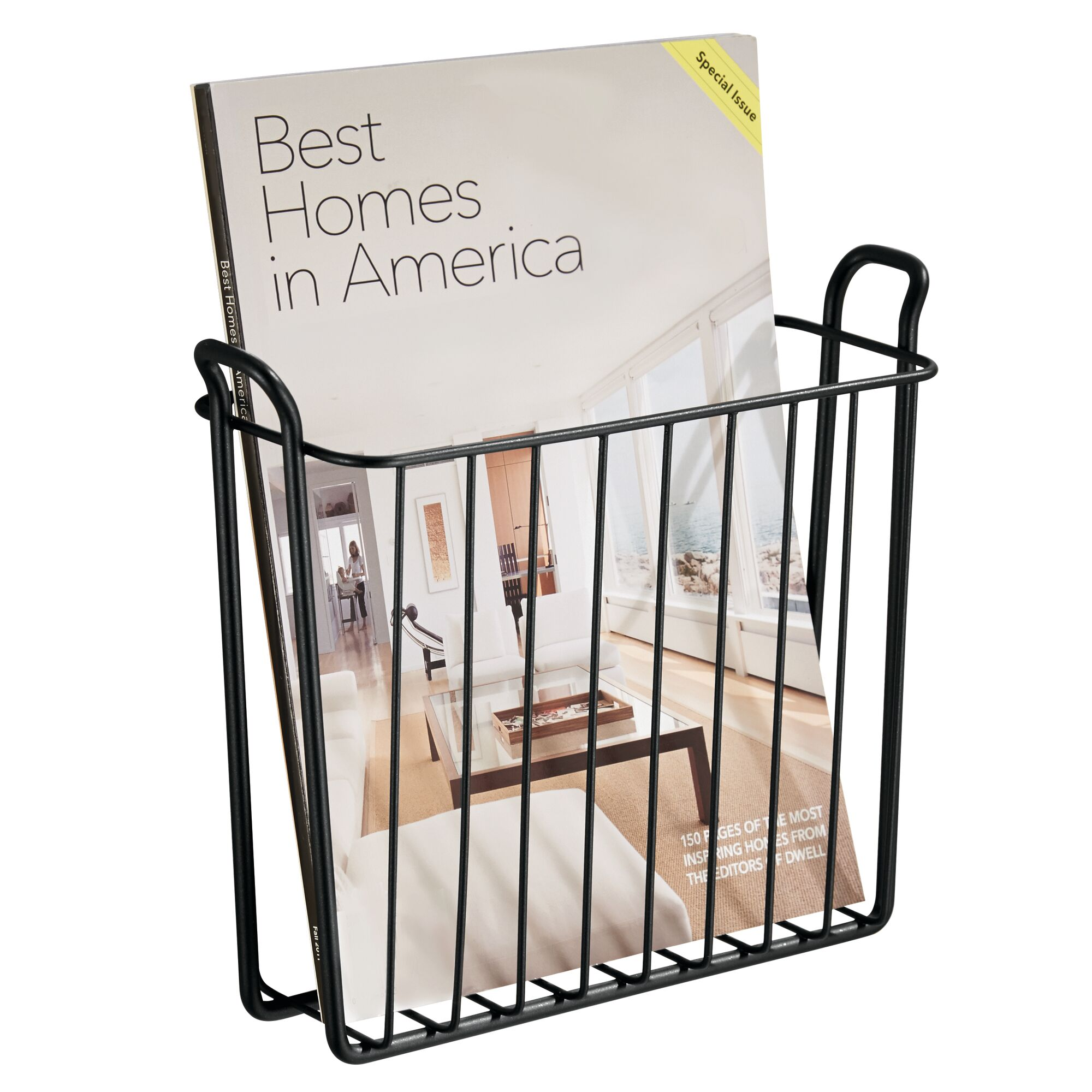 mDesign-Metal-Wall-Mount-Magazine-Book-Holder-Compact-Rack thumbnail 26