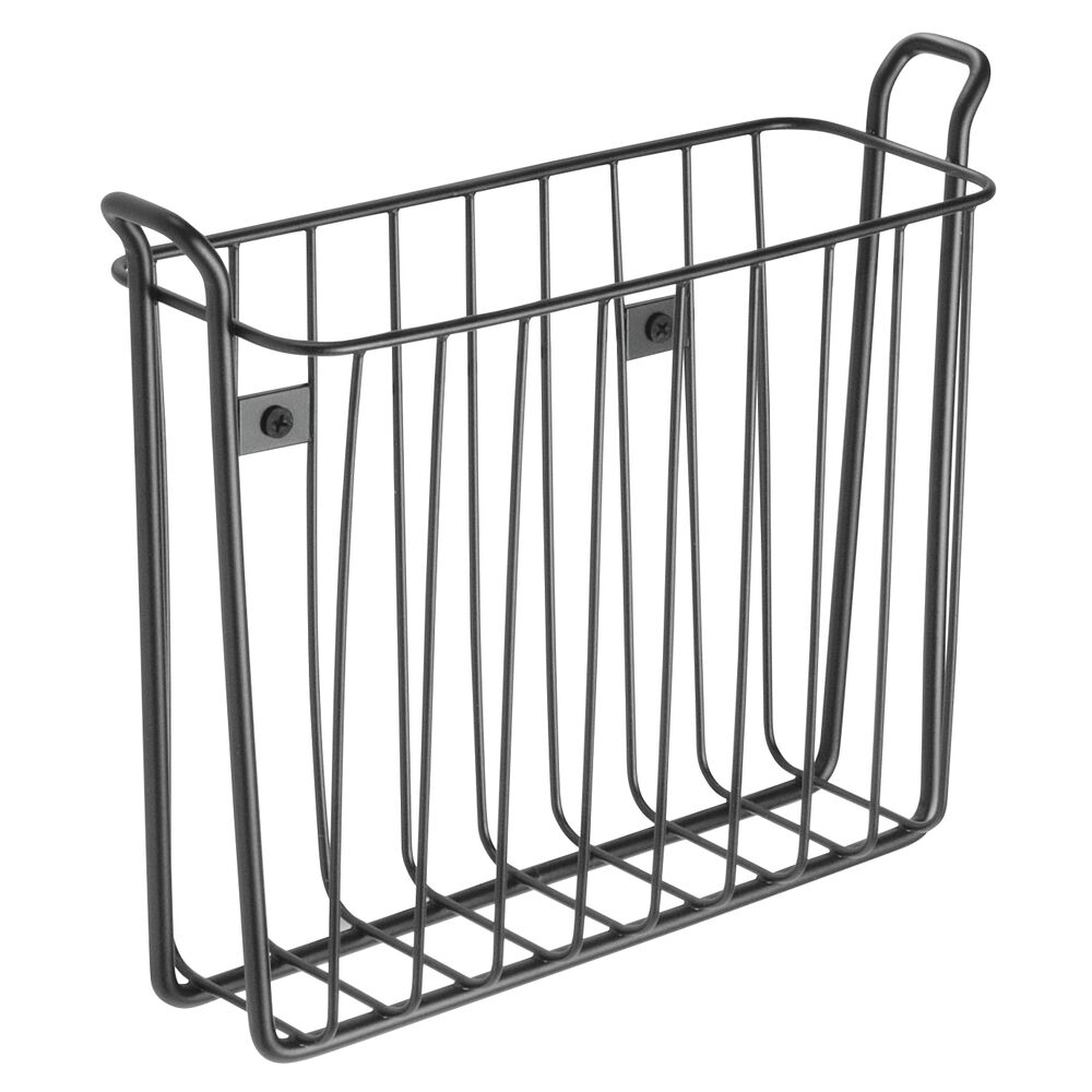 mDesign-Metal-Wall-Mount-Magazine-Book-Holder-Compact-Rack thumbnail 25