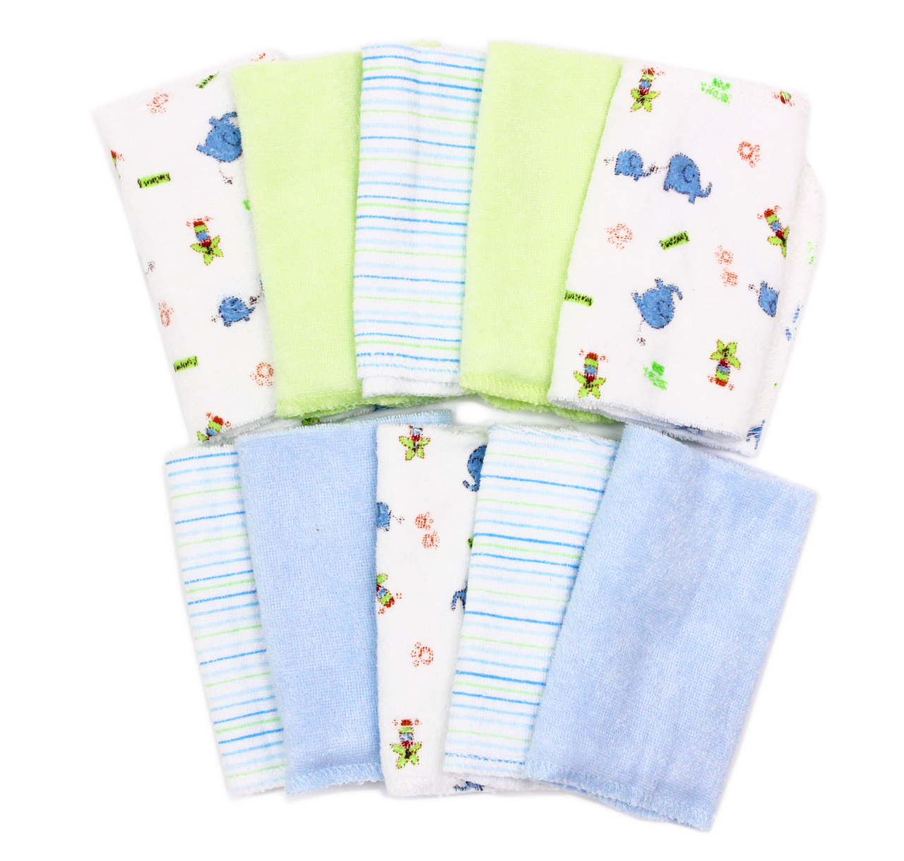 Spasilk 10 Pack Washcloth