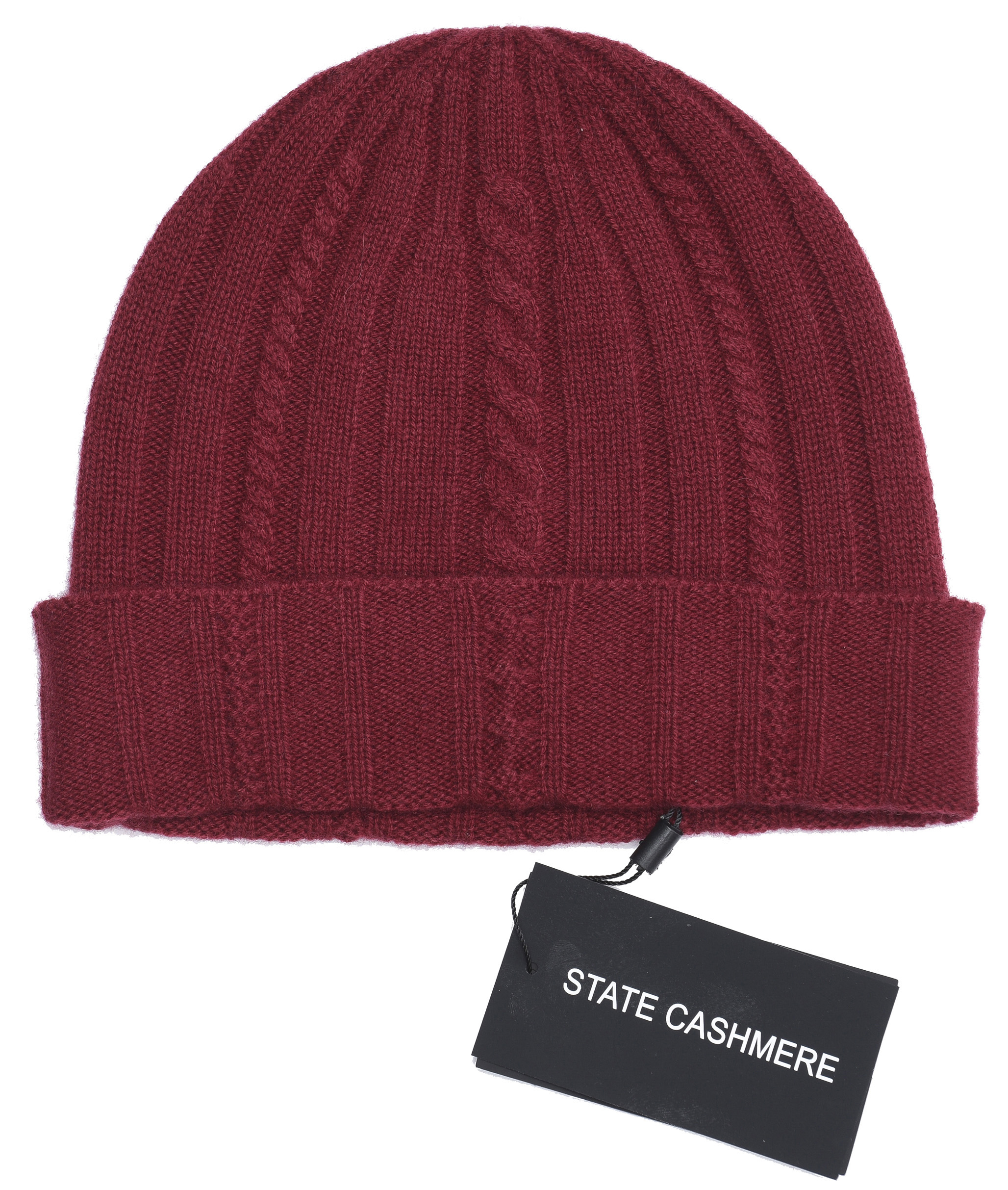 State Cashmere 100% Pure Cashmere Cable Knit Beanie Hat - Ultimate ... f486c7bef