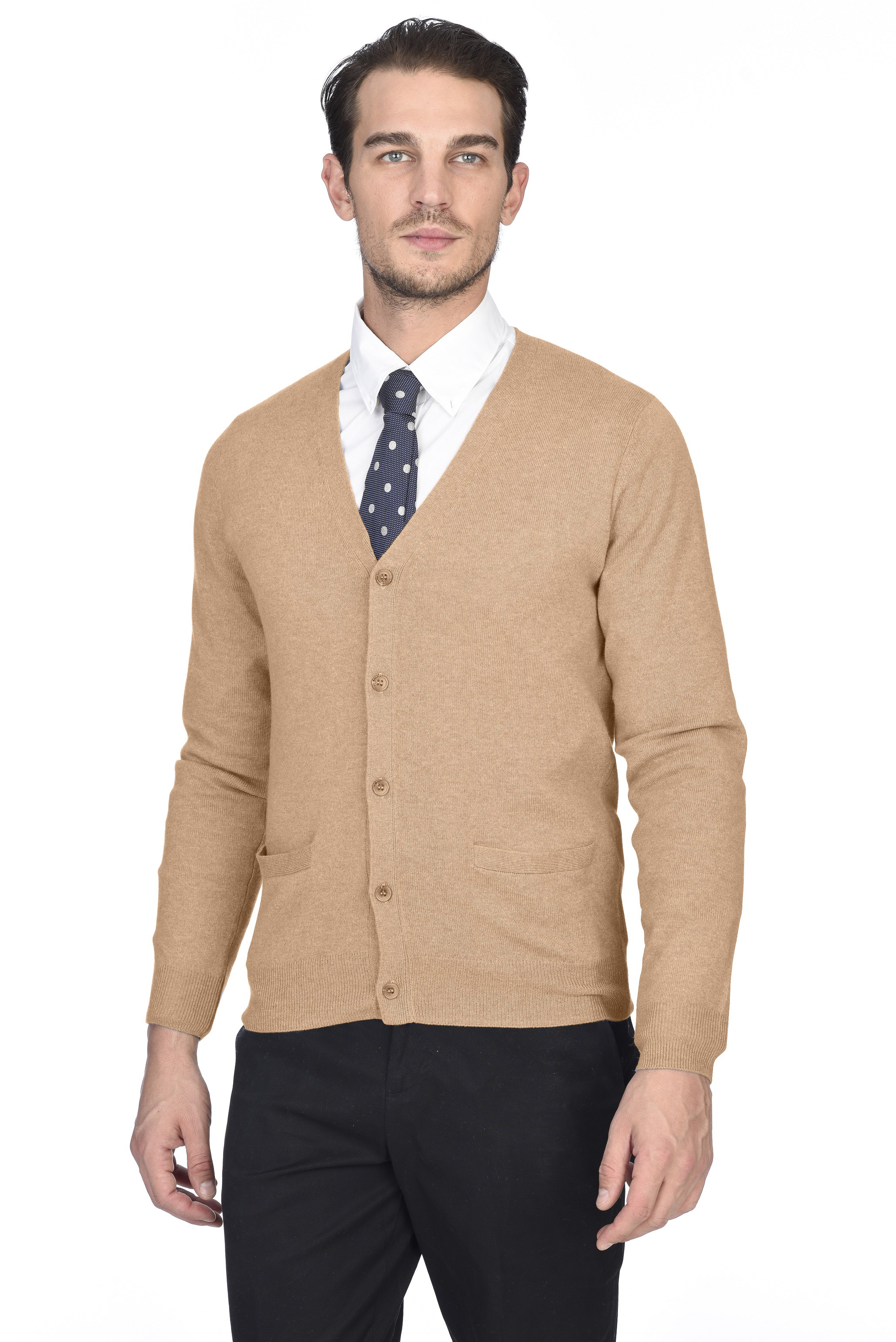State Cashmere Men's 100% Pure Pure Pure Cashmere Button Front Long Sleeve Cardigan 6e6f54