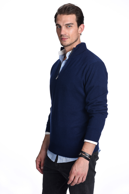 1681c5253da Details about State Cashmere Men's 100% Pure Cashmere Pullover Half Zip  Mock Neck Sweater