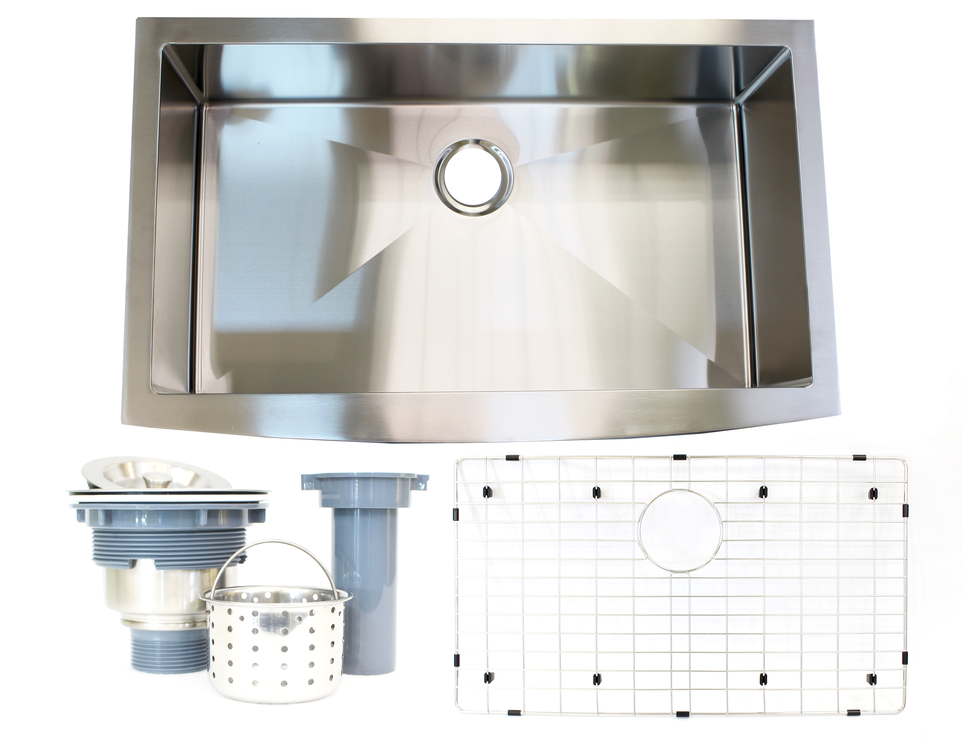 Details About New Apron Farmhouse Single Bowl Stainless Steel Kitchen Sink Undermount 36 Inch