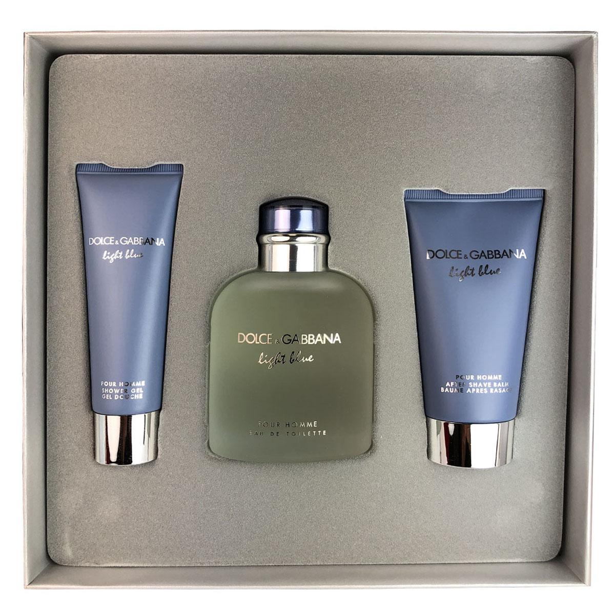 9d5e6b1fb Dolce   Gabbana Light Blue 3 Piece Gift Set for Men by D G 4 oz Eau de  Toilette+