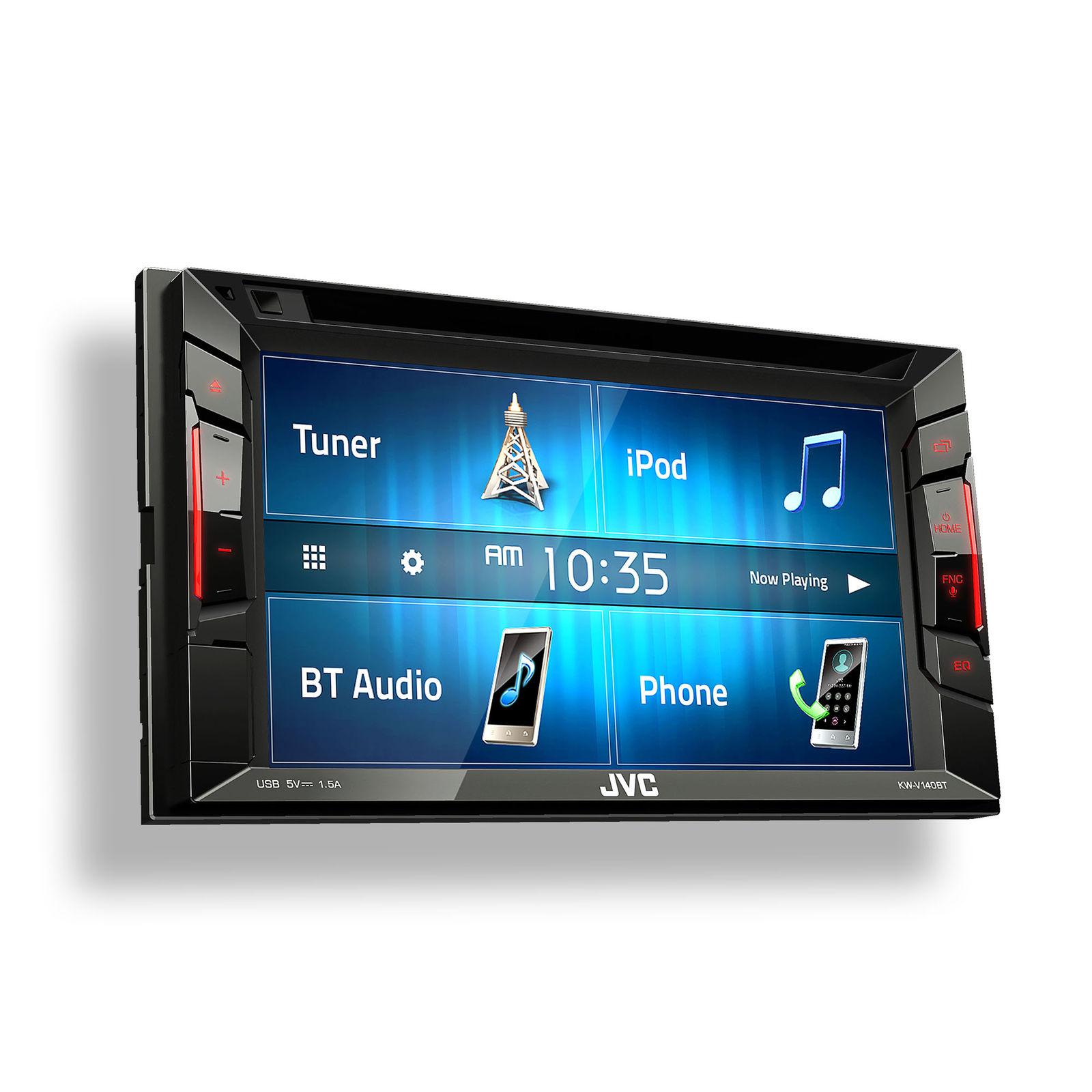 JVC KWV140BT Car Radio Stereo CD Player Dash Install Kit with Pocket ...
