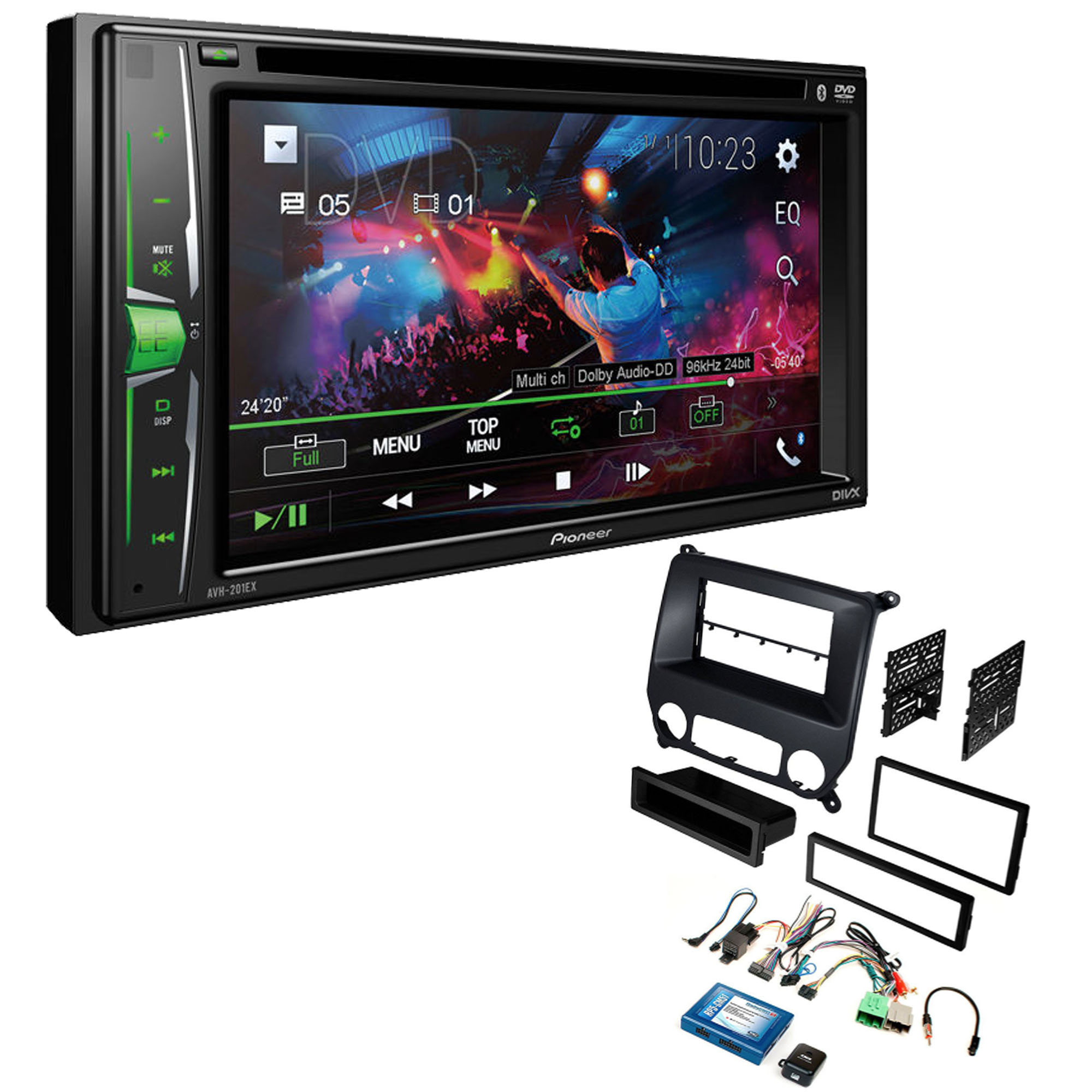 Pioneer Avh 210ex 2 Din 6 2 Car Stereo Radio Dvd Receiver With