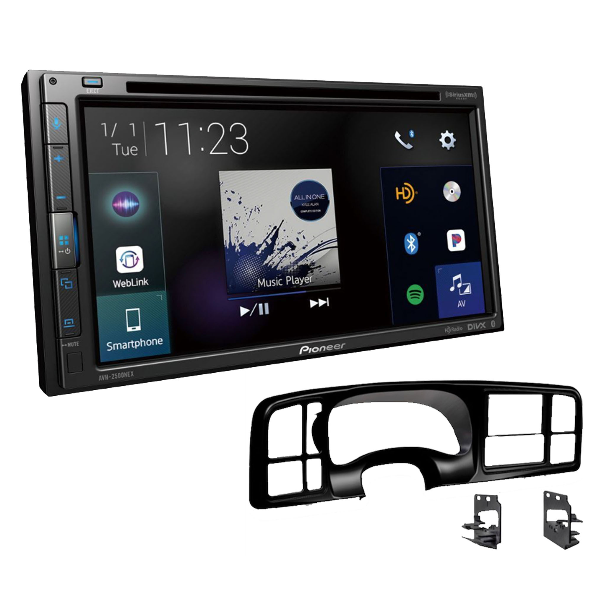 Metra DP-3002B Black Double DIN Dash Kit for Select 99-02 GM Full-Size Truck SUV