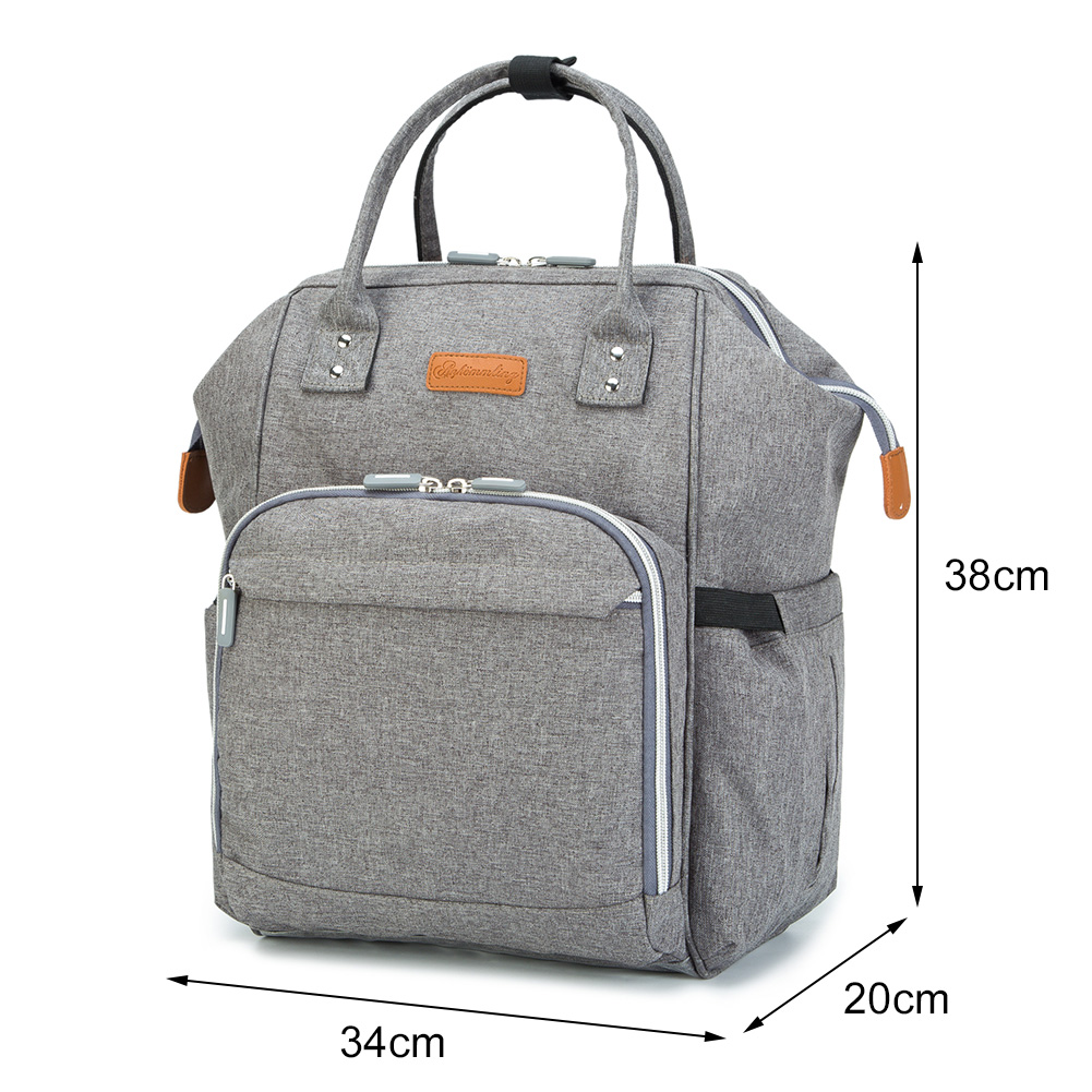 Mummy-Nappy-Diaper-Bag-Baby-Care-Nursing-Bag-Multi-Function-Travel-Backpack thumbnail 37