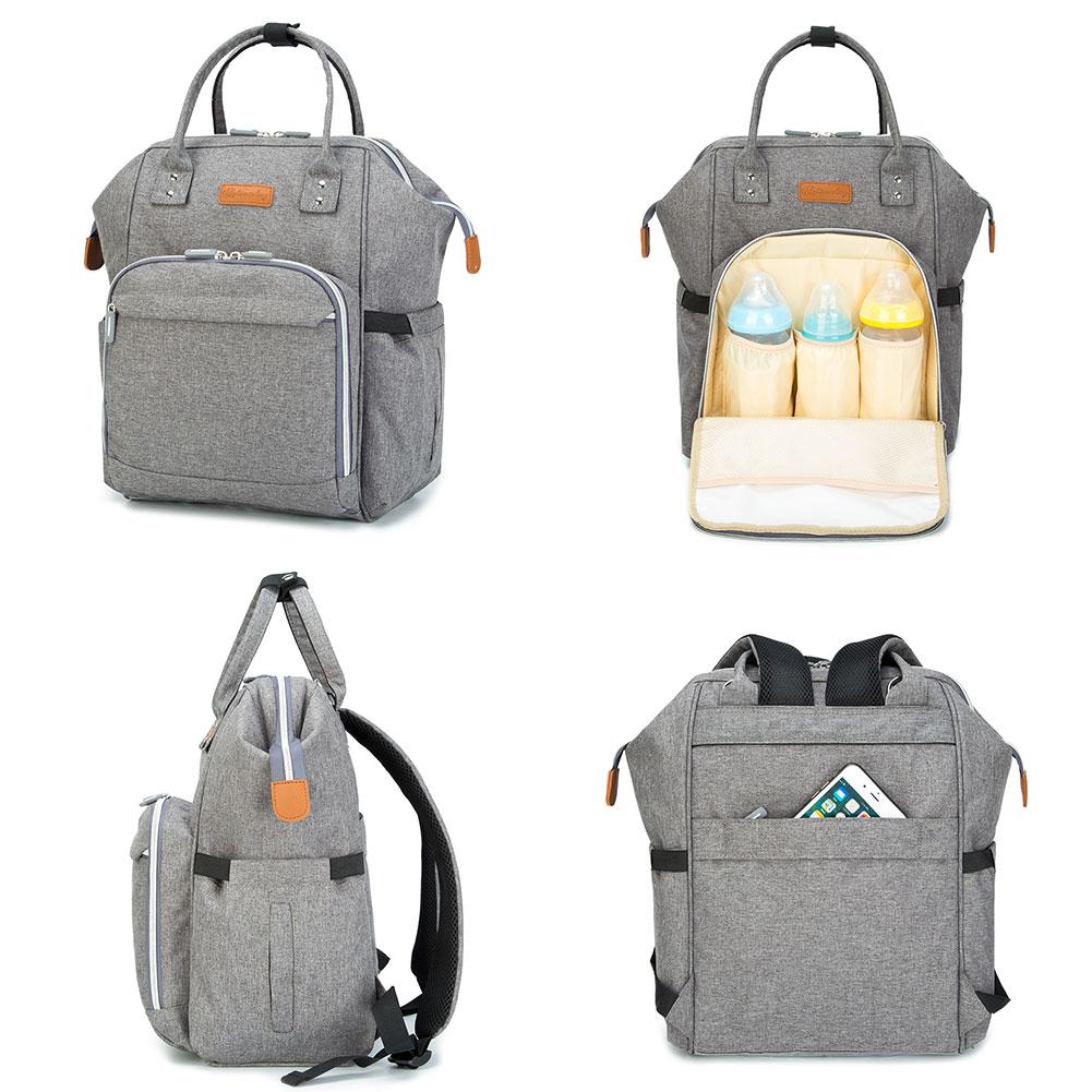 Mummy-Nappy-Diaper-Bag-Baby-Care-Nursing-Bag-Multi-Function-Travel-Backpack thumbnail 40