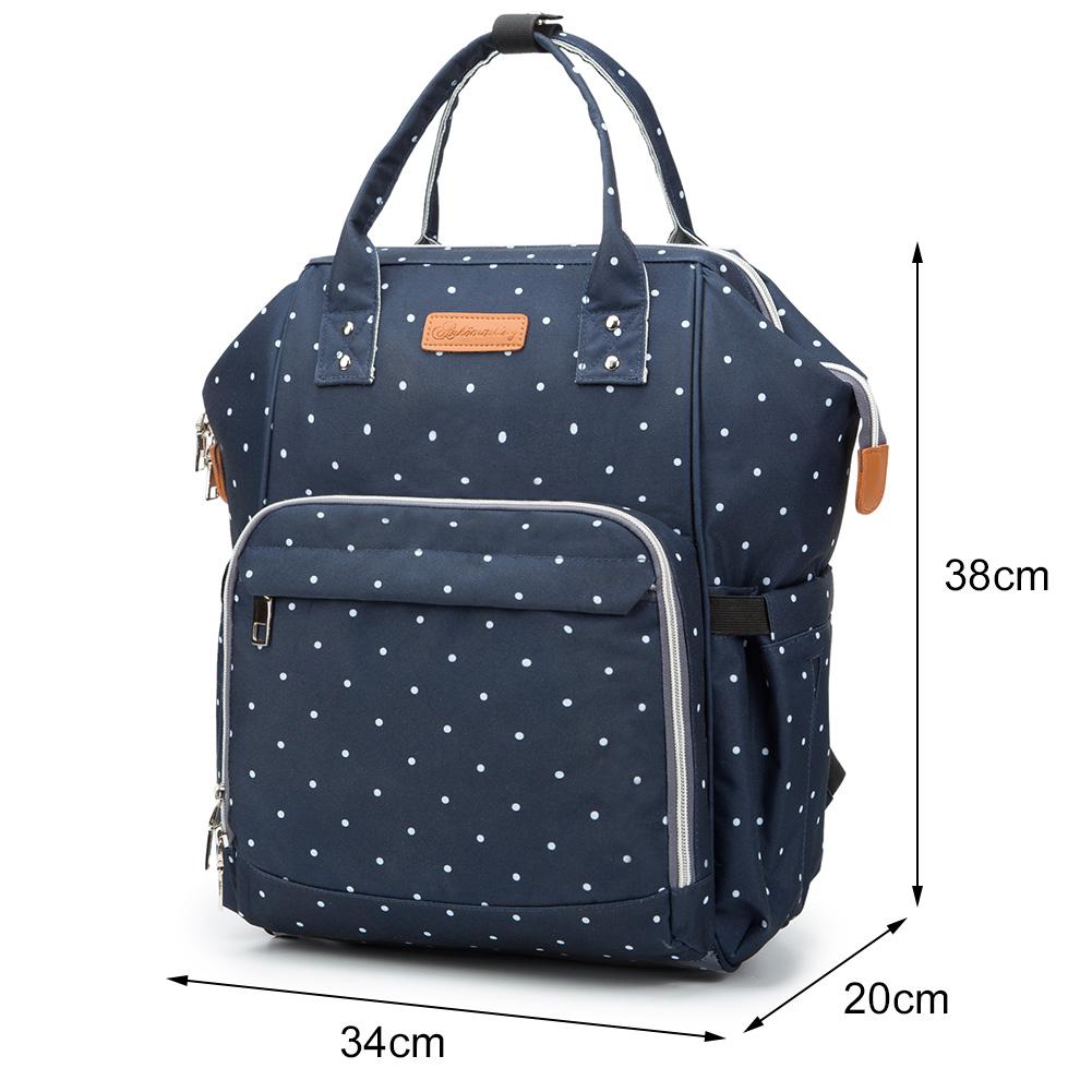 Mummy-Nappy-Diaper-Bag-Baby-Care-Nursing-Bag-Multi-Function-Travel-Backpack thumbnail 30