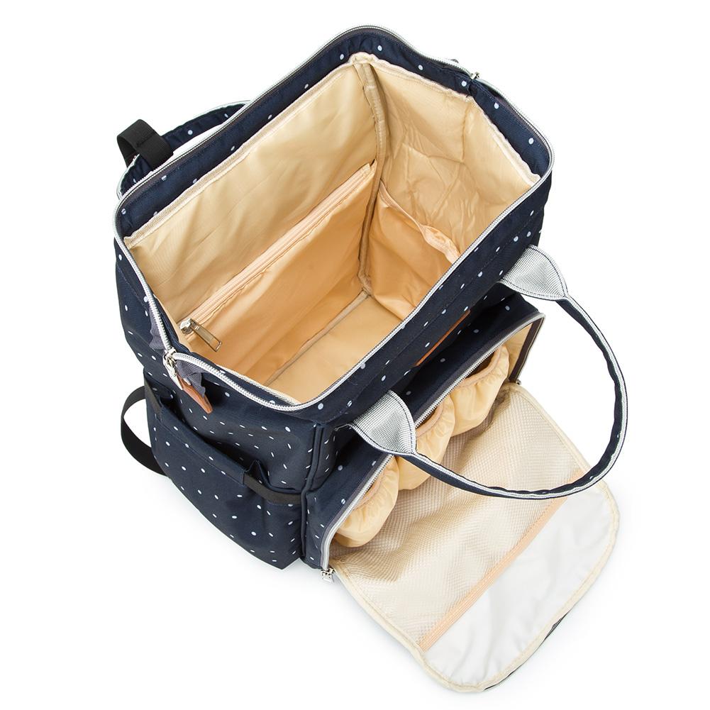 Mummy-Nappy-Diaper-Bag-Baby-Care-Nursing-Bag-Multi-Function-Travel-Backpack thumbnail 32