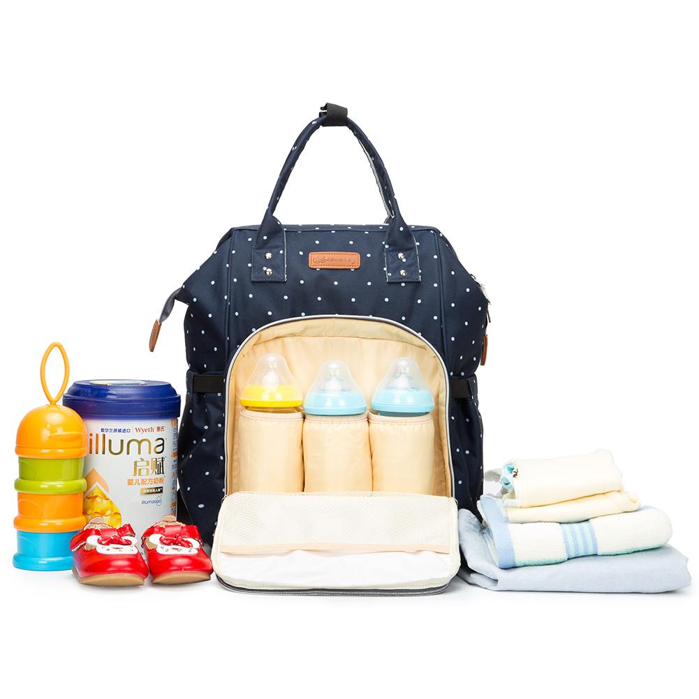 Mummy-Nappy-Diaper-Bag-Baby-Care-Nursing-Bag-Multi-Function-Travel-Backpack thumbnail 33