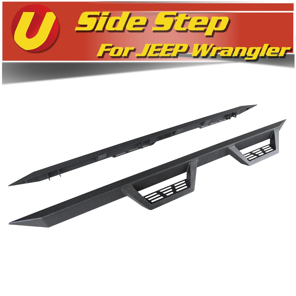 Fits 2007-2018 Jeep Wrangler JK 4D Strong Off Road Black