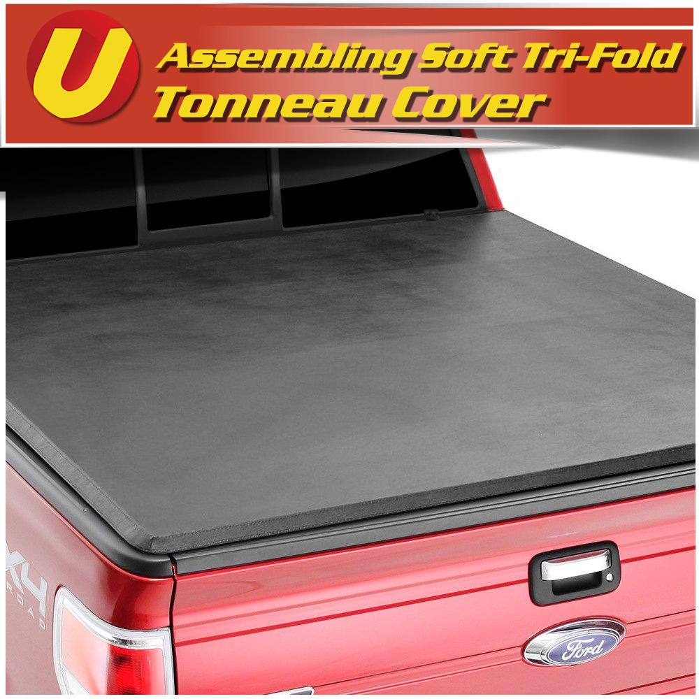 "Lock /& Tri-Fold Tonneau Cover Fit 2005-2011 Dodge Dakota Quad Cab 5/'3/"" Short Bed"