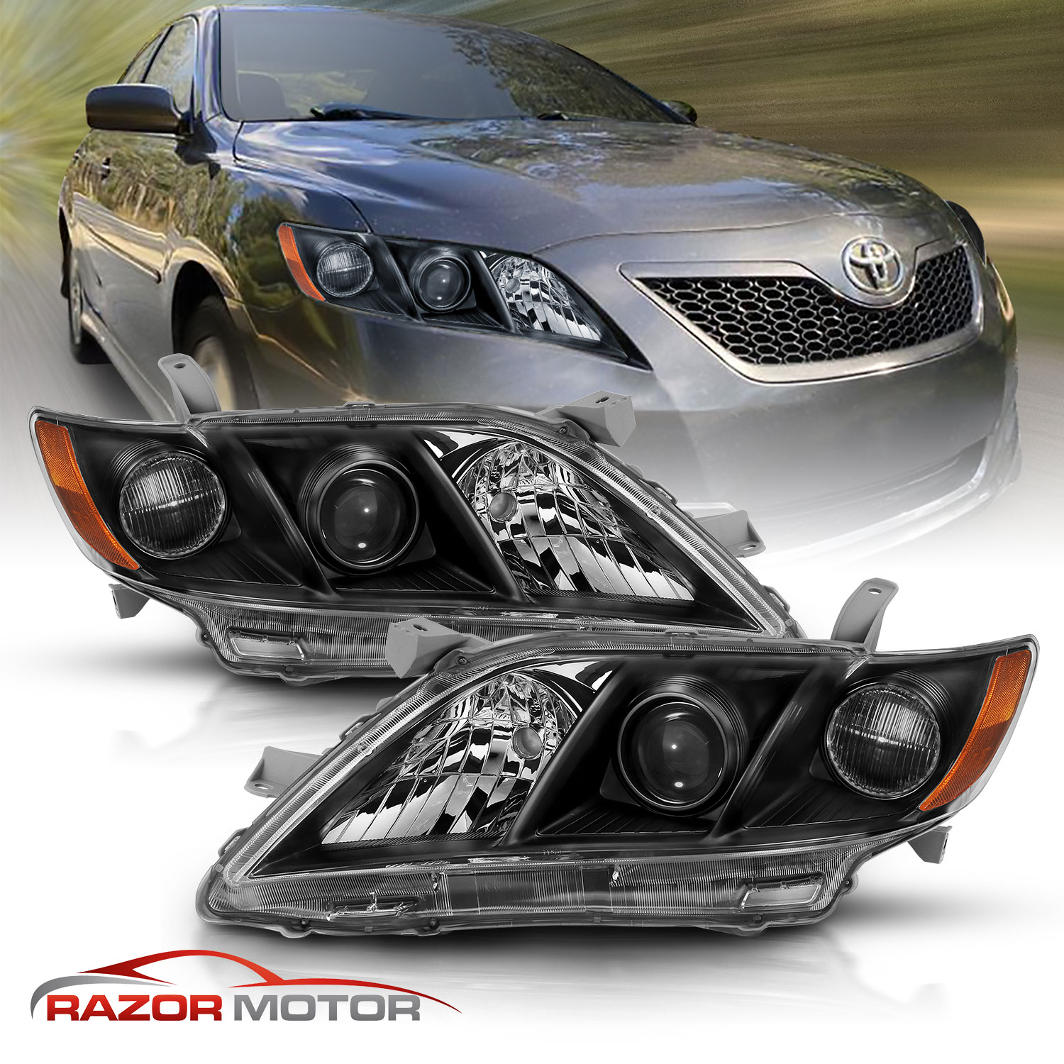 2007-2009 Right Replacement Projector Headlight For Toyota Camry US Version